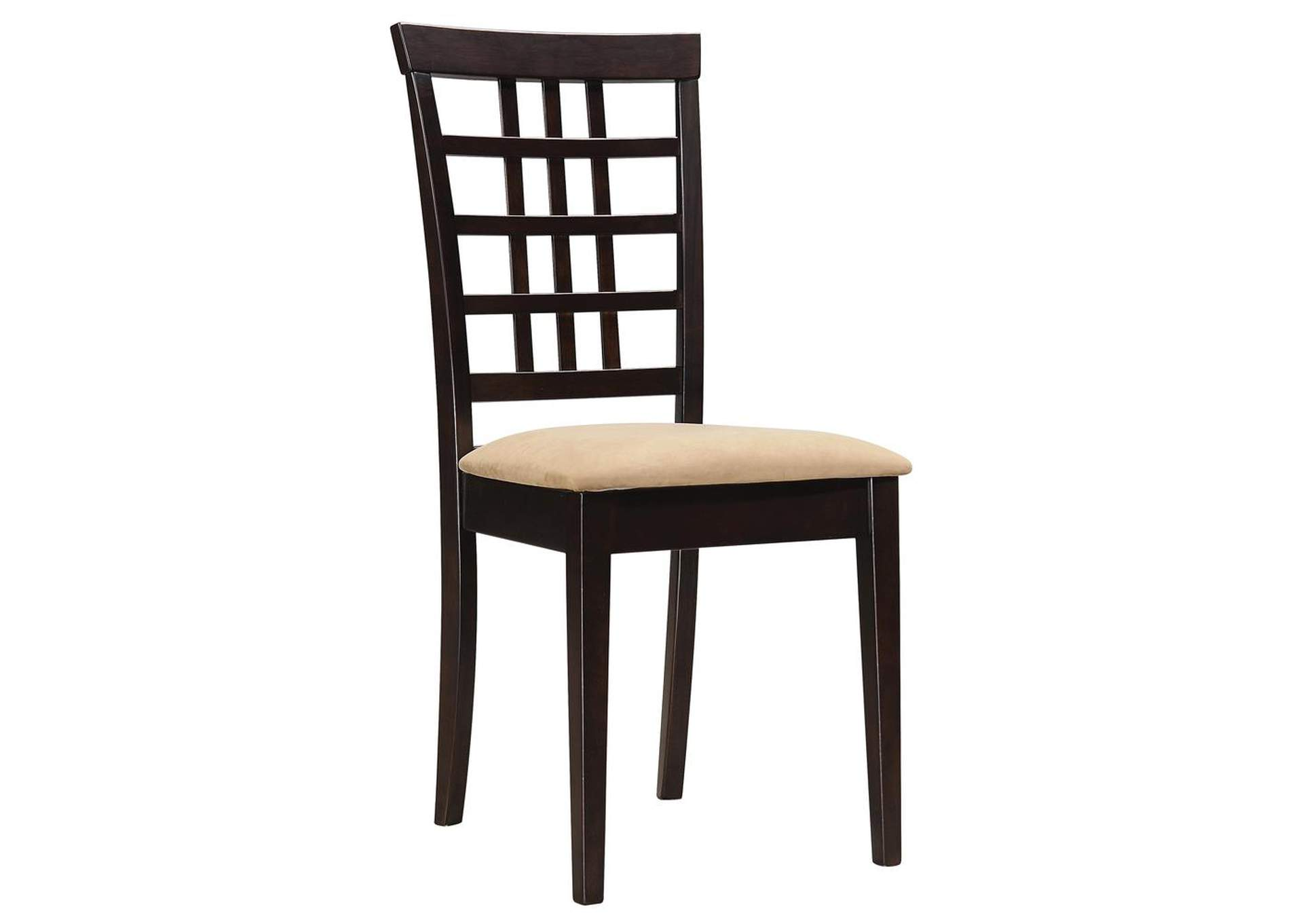 Kelso Lattice Back Dining Chairs Cappuccino (Set of 2),Coaster Furniture