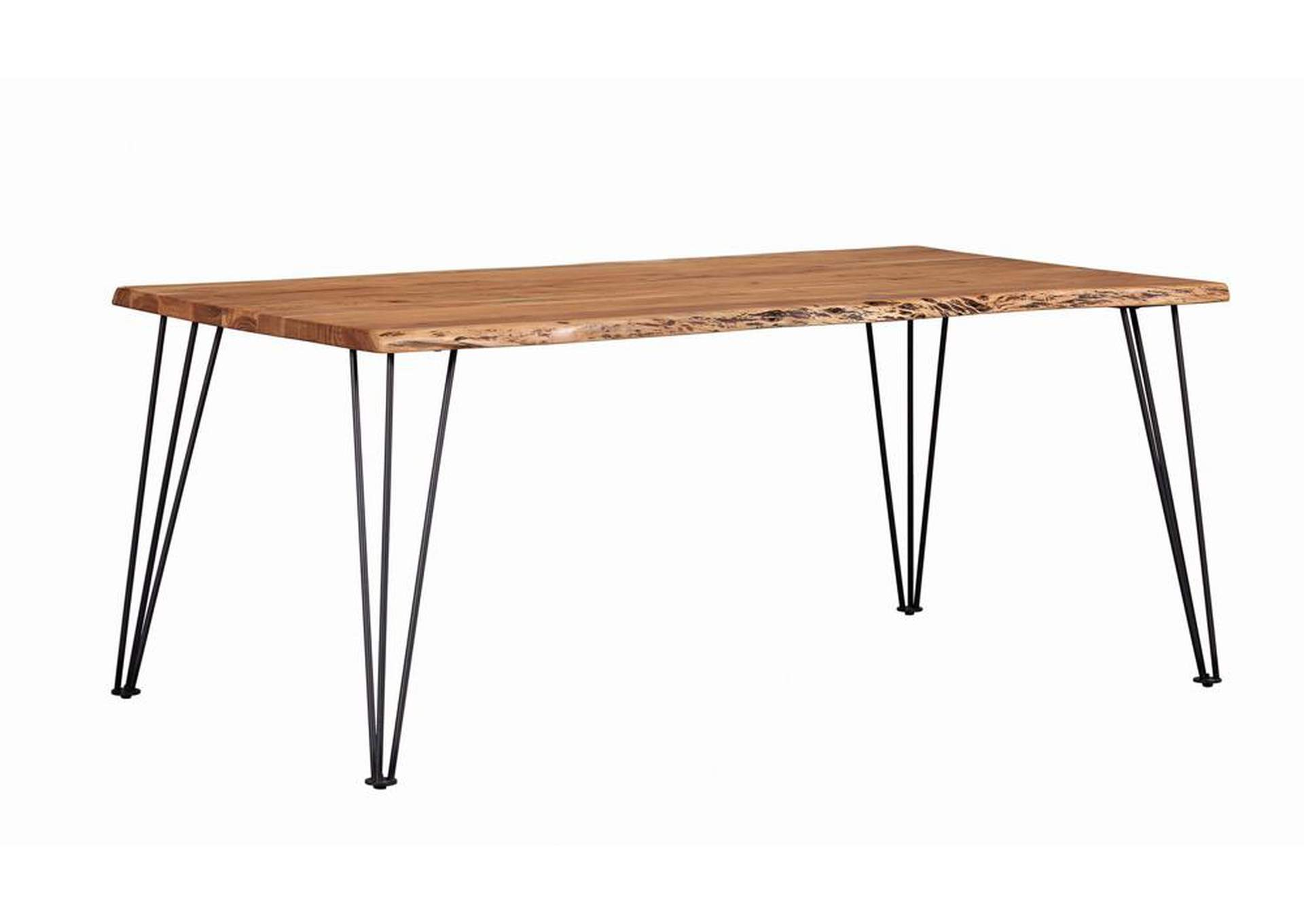 Chocolate Industrial Natural Acacia Dining Table,Coaster Furniture