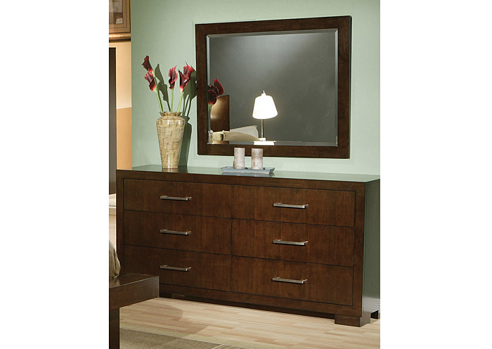 Jessica Cappuccino Dresser w/Mirror,Coaster Furniture