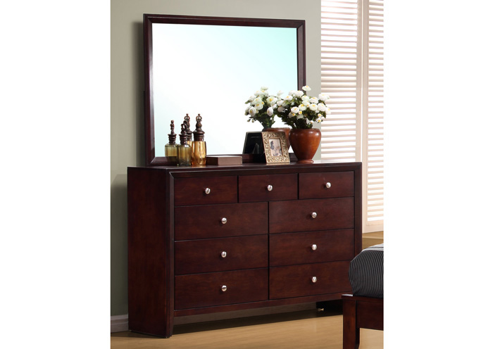 Serenity Merlot Dresser w/Mirror,Coaster Furniture