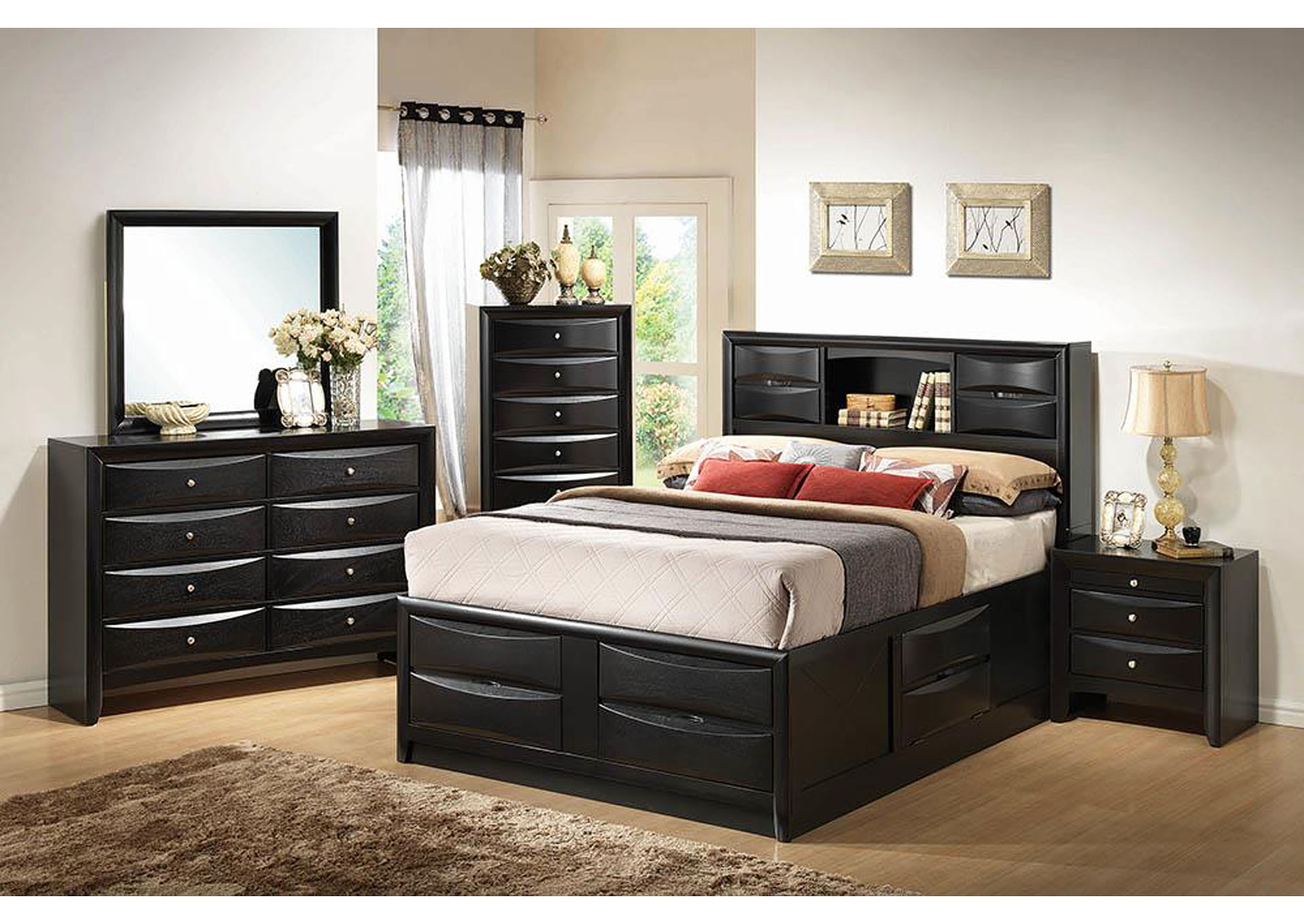 Briana Transitional Black Queen Bed,Coaster Furniture