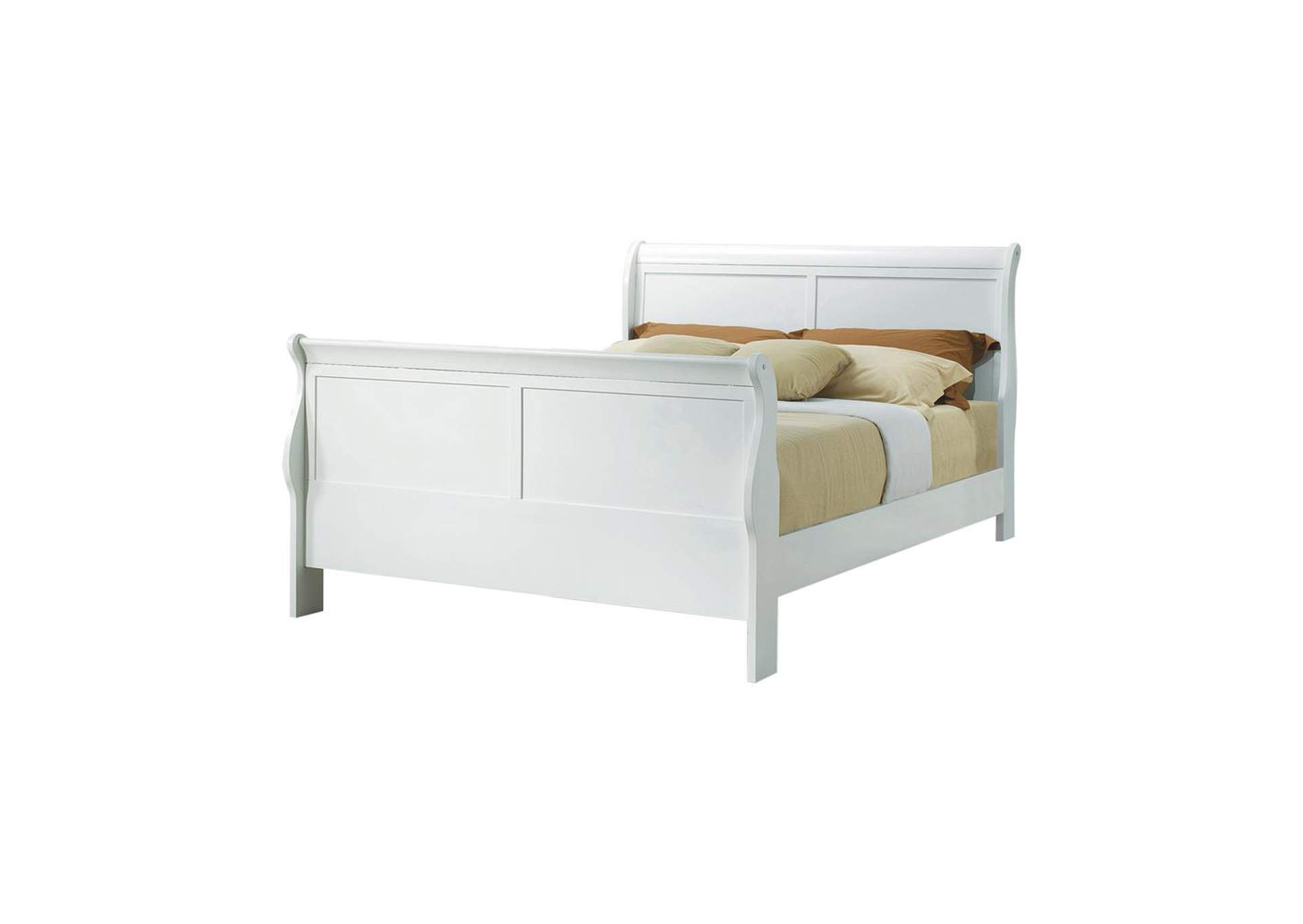 Louis Philippe Traditional Youth White Full Bed,Coaster Furniture