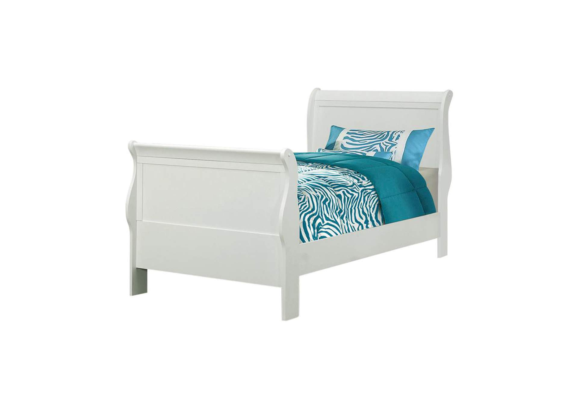 Louis Philippe Traditional Youth White Twin Bed,Coaster Furniture