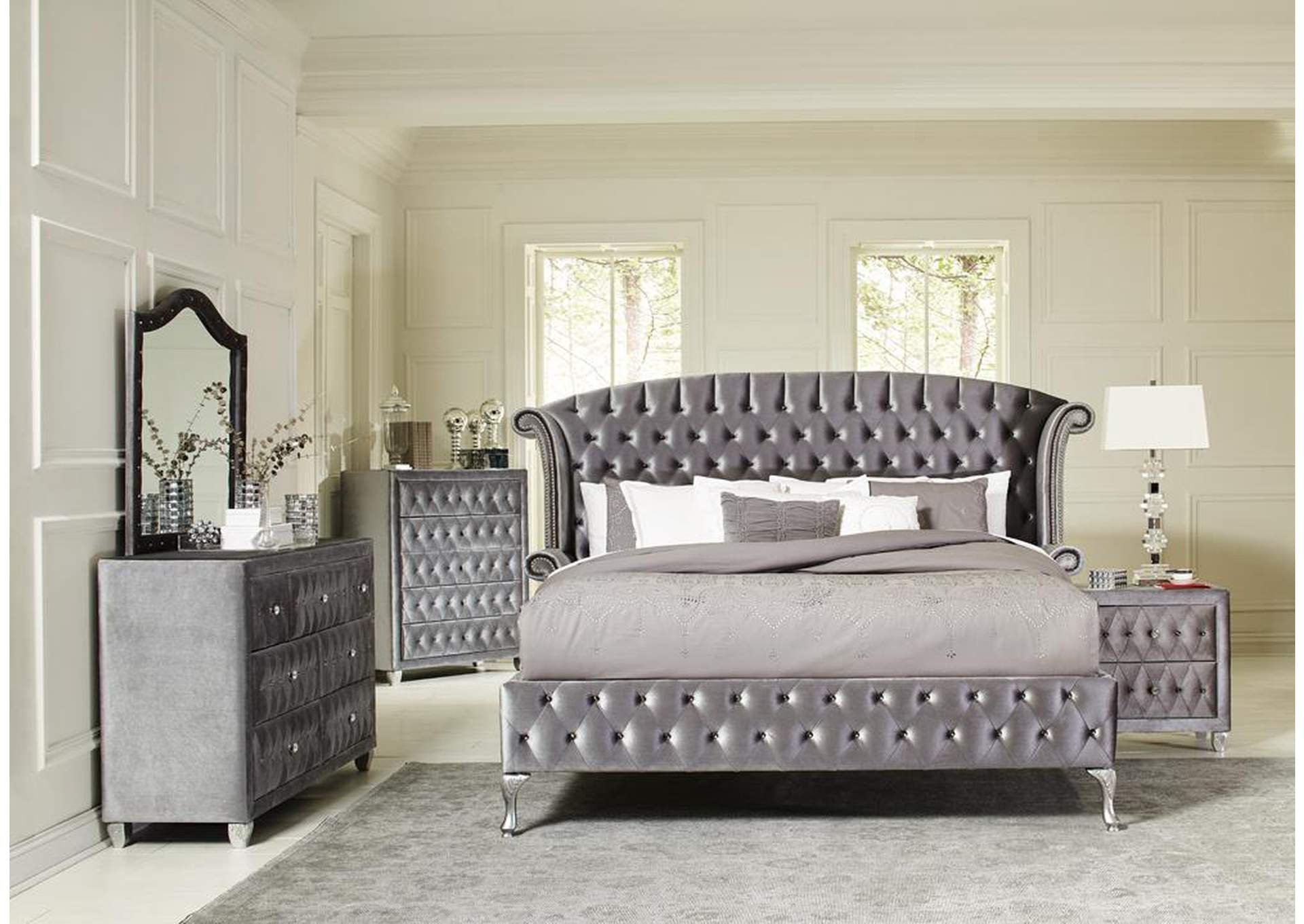 Coral Reef 4 Piece California King Bedroom Set The Furniture Loft
