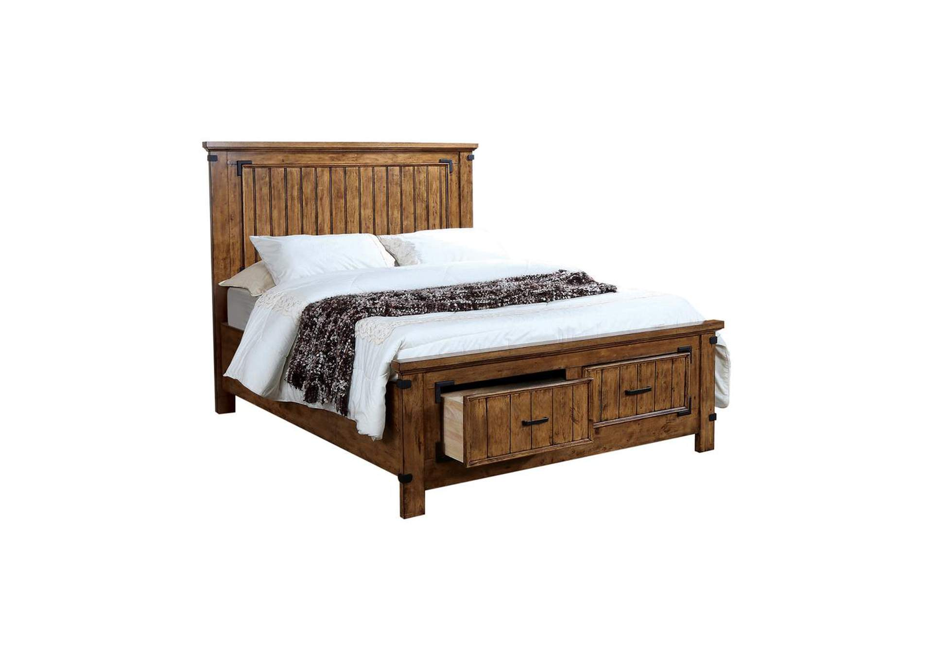 Rustic Honey Brenner Rustic Honey Queen Bed,Coaster Furniture