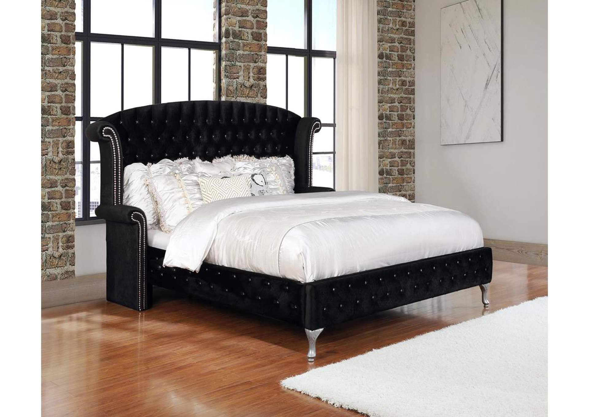 Cod Gray Deanna Contemporary Queen King Bed,Coaster Furniture