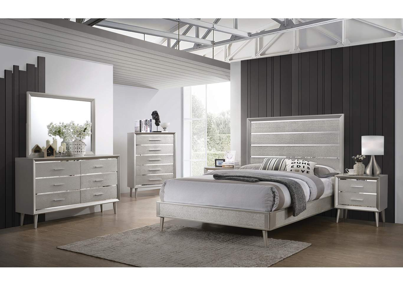 Delta Queen Bed,Coaster Furniture