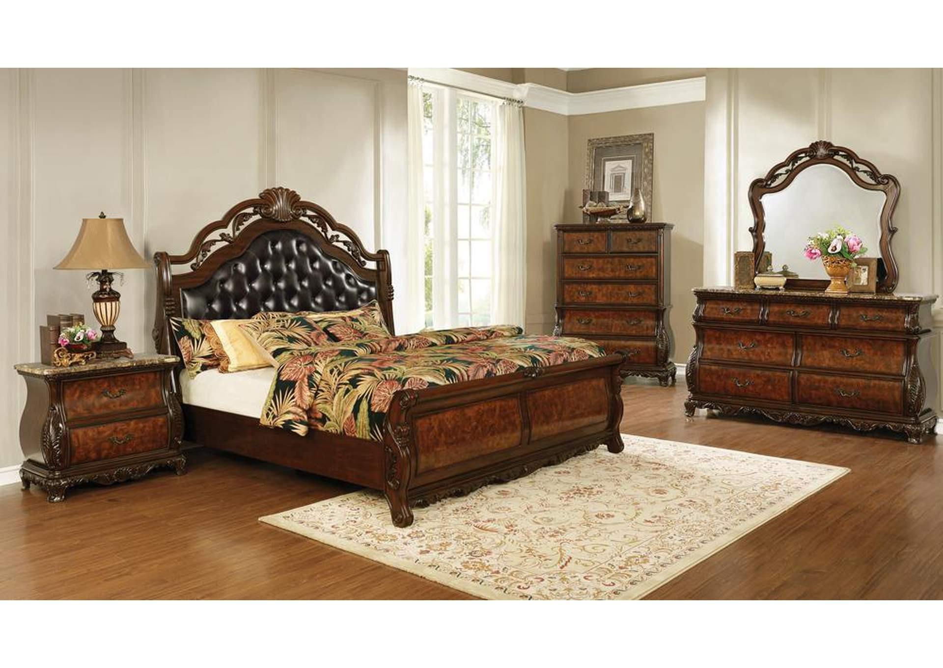 Exeter Soft Amber 5 Piece California King Bedroom Set Lo S Art Furniture