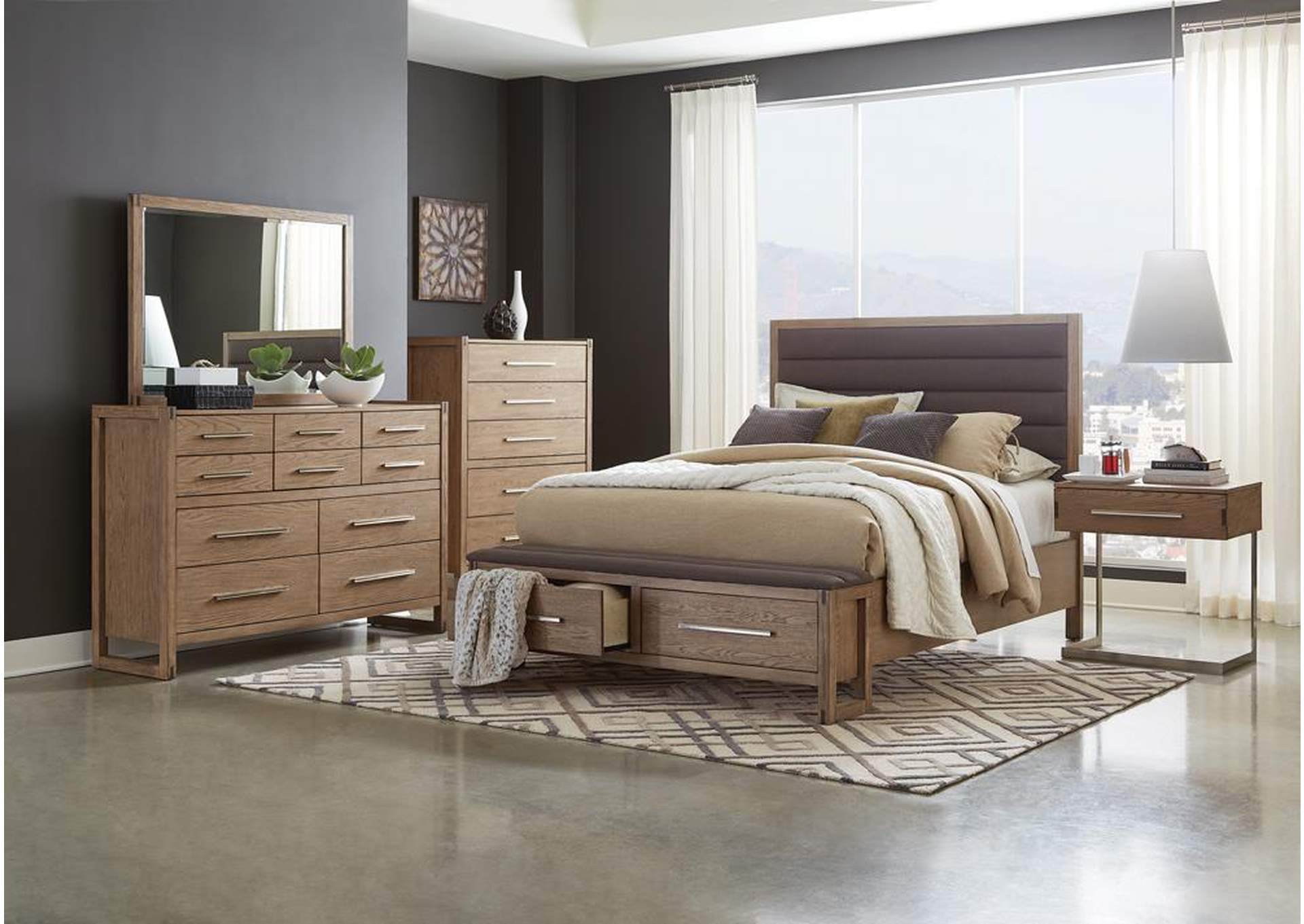 Smithson Alabaster 4 Piece California King Bedroom Set Lo S Art Furniture