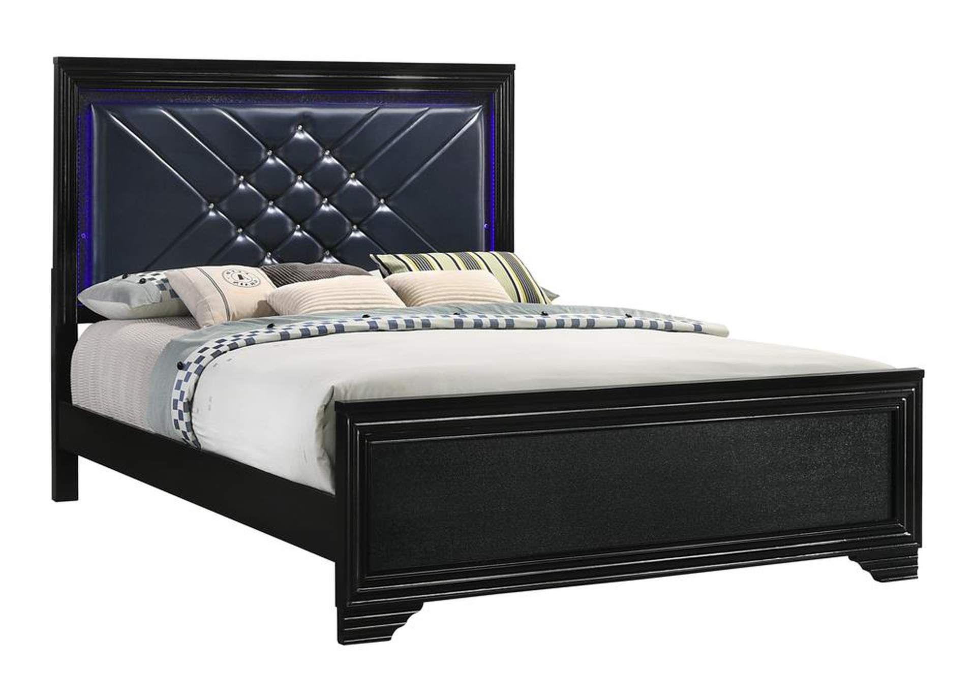 Eerie Black Eastern King Bed,Coaster Furniture
