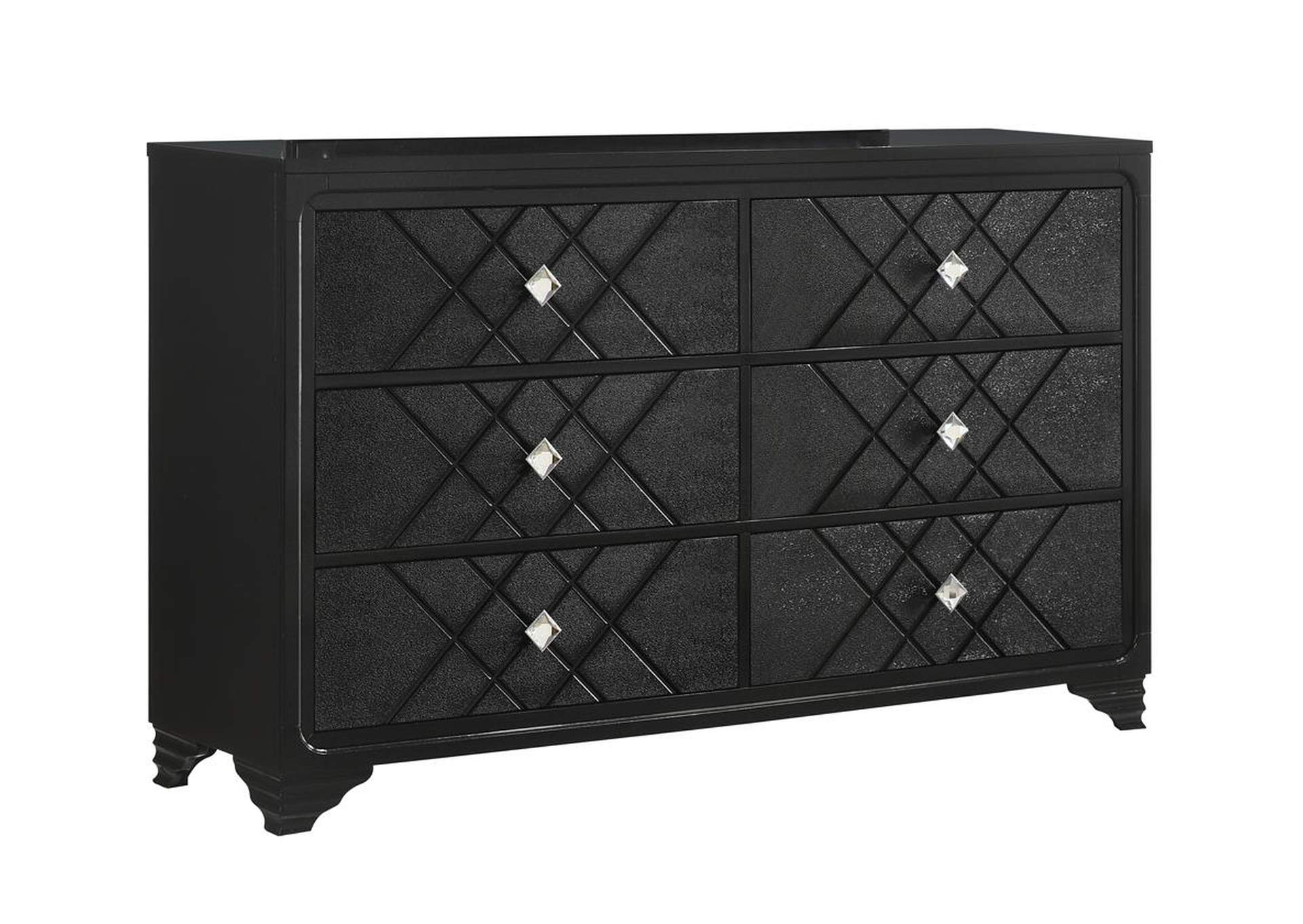Eerie Black Nightstand,Coaster Furniture