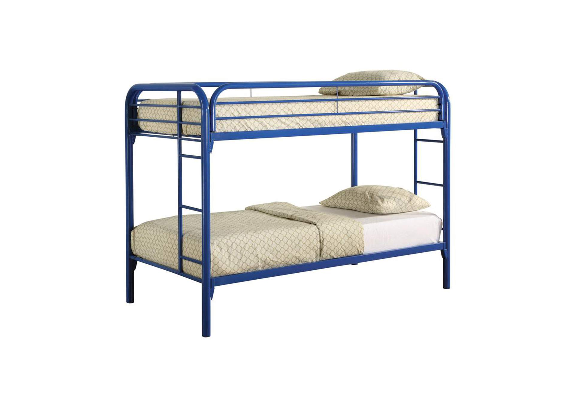 Sisal Morgan Twin-over-Twin Blue Bunk Bed,Coaster Furniture