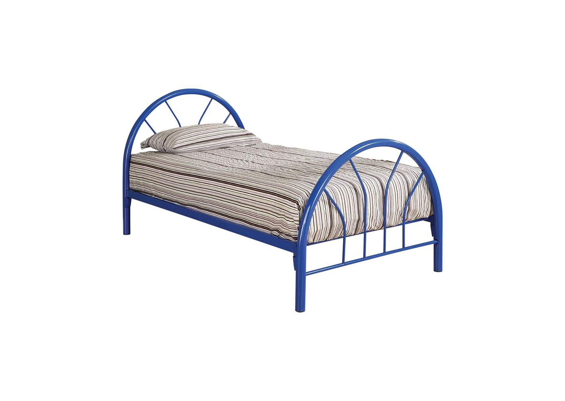 Cotton Seed Transitional Blue Twin Bed,Coaster Furniture