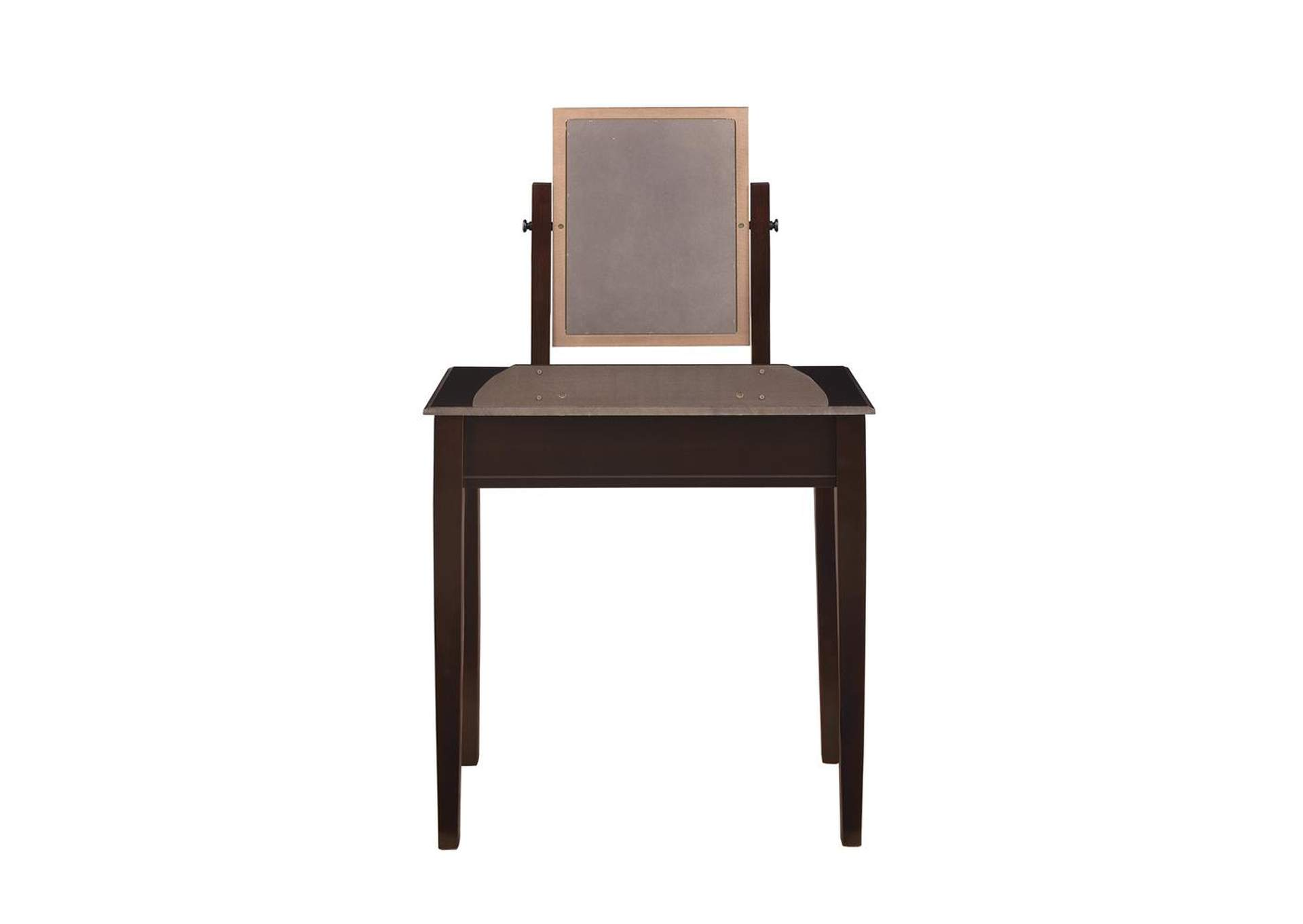 2-Piece Vanity Set Espresso And Beige,Coaster Furniture