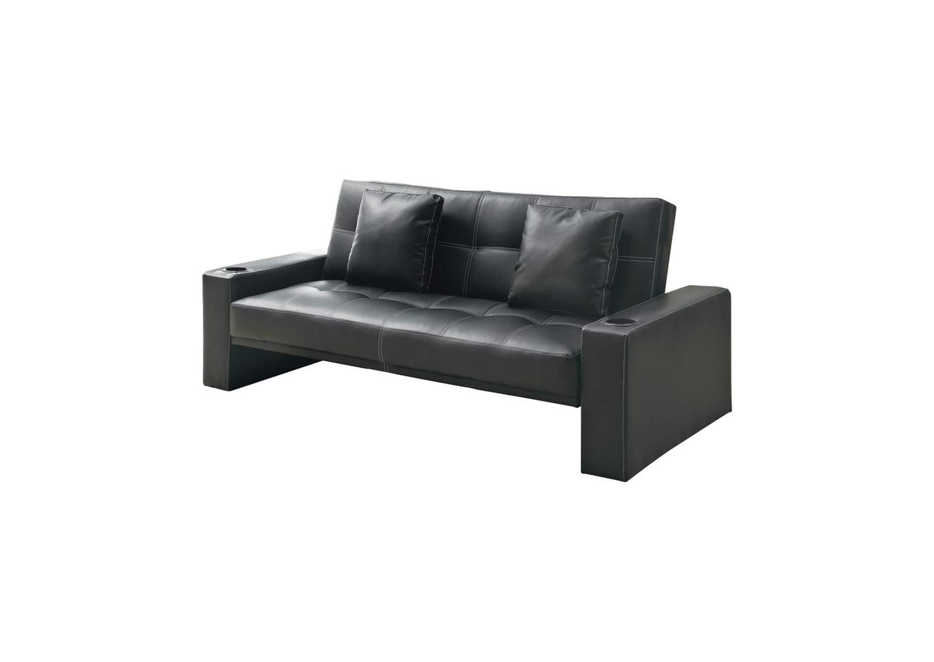 Onyx Contemporary Black Sofa Bed,Coaster Furniture
