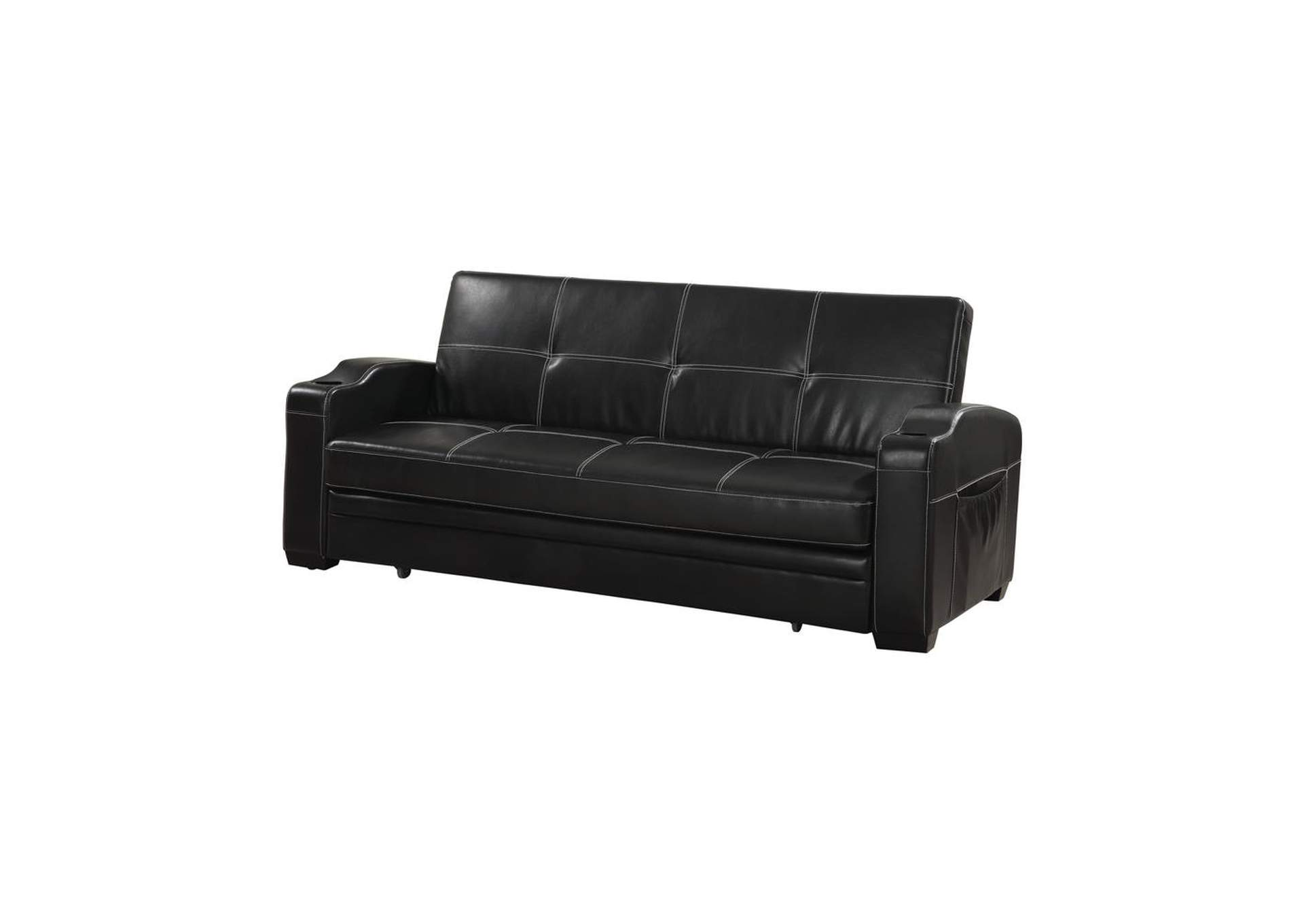 Mine Shaft Contemporary Black Sofa Bed,Coaster Furniture