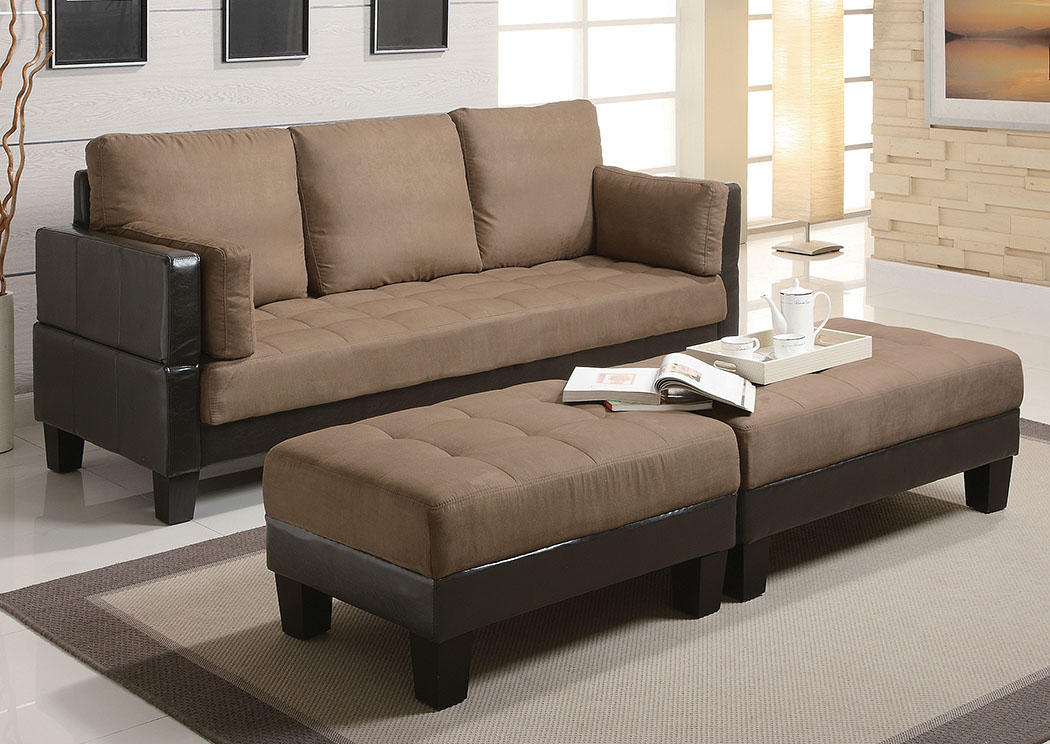 Sandrift Ellesmere Contemporary Tan Sofa Bed,Coaster Furniture