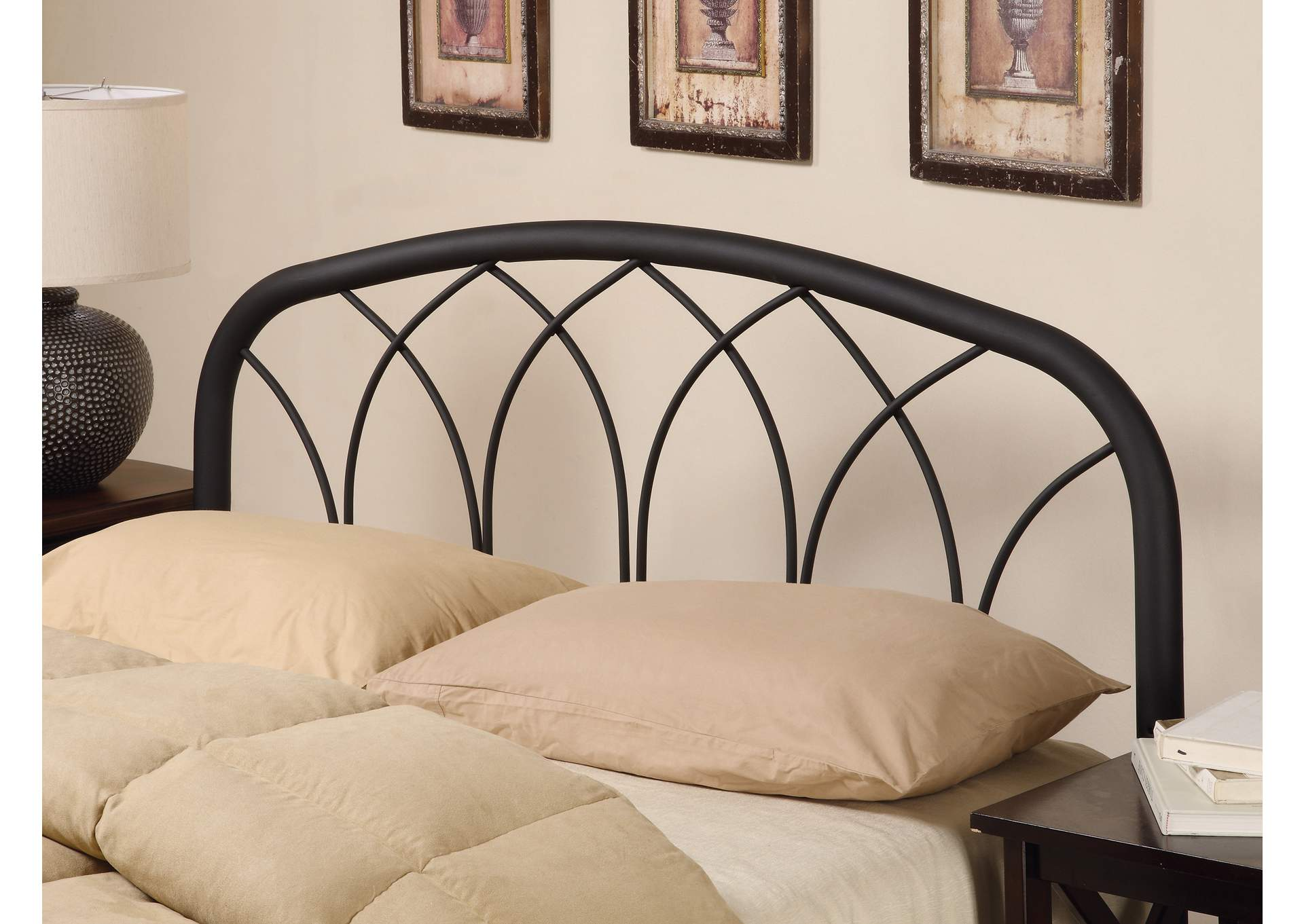Traditional Black Queen/Full Headboard W/ Arches,Coaster Furniture