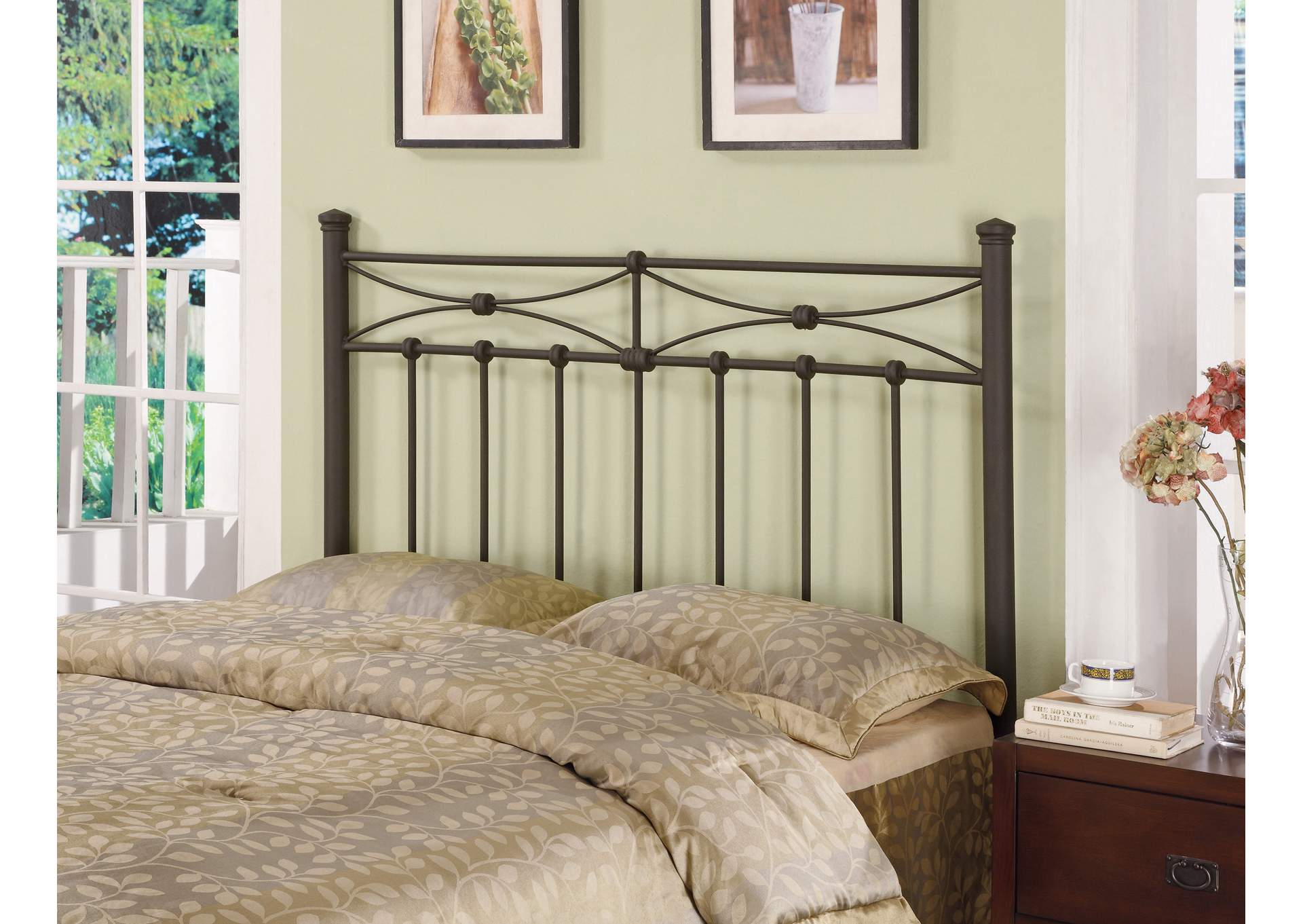 Traditional Rustic Metal Headboard,Coaster Furniture