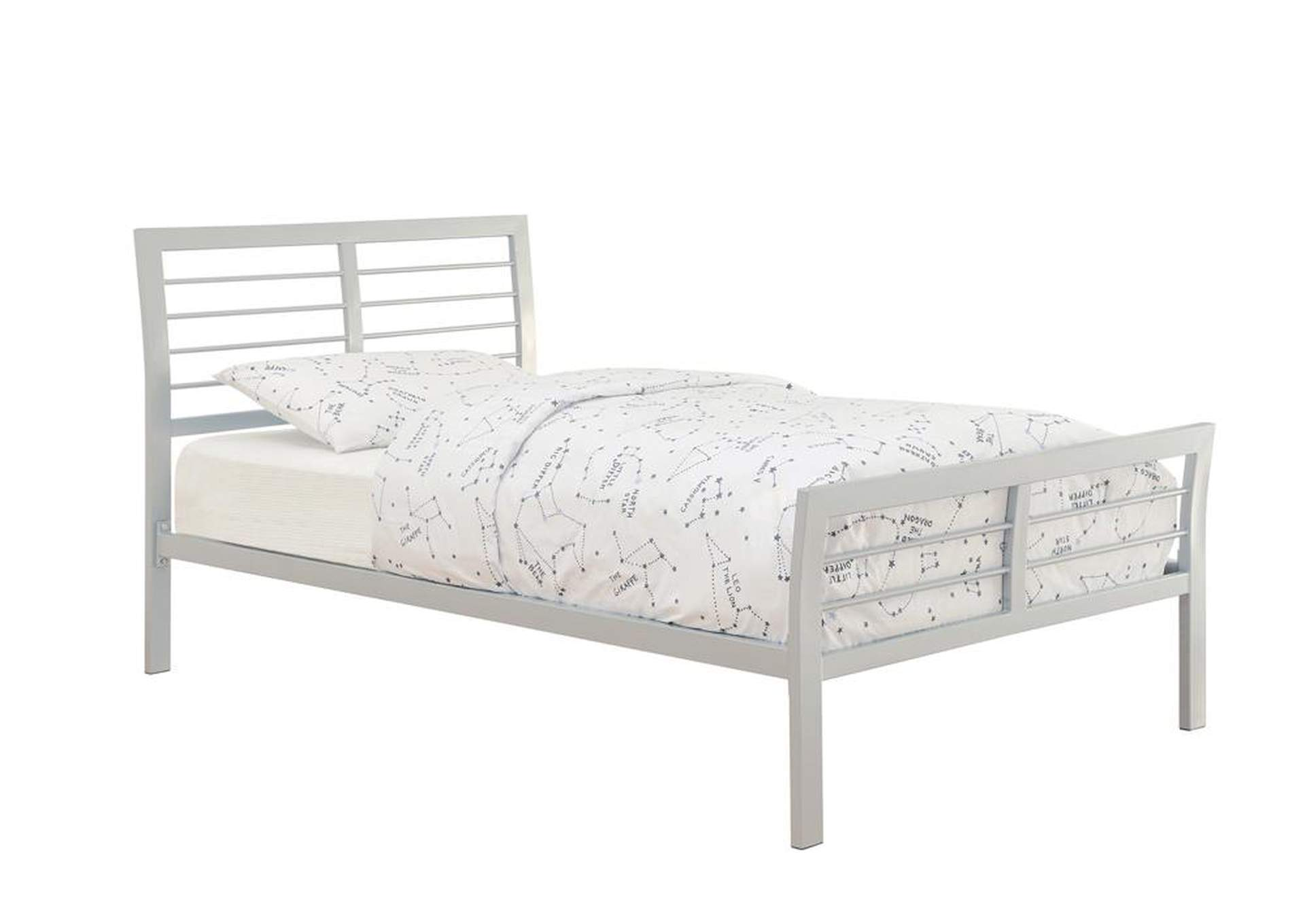 Cooper Contemporary Silver Queen Bed,Coaster Furniture