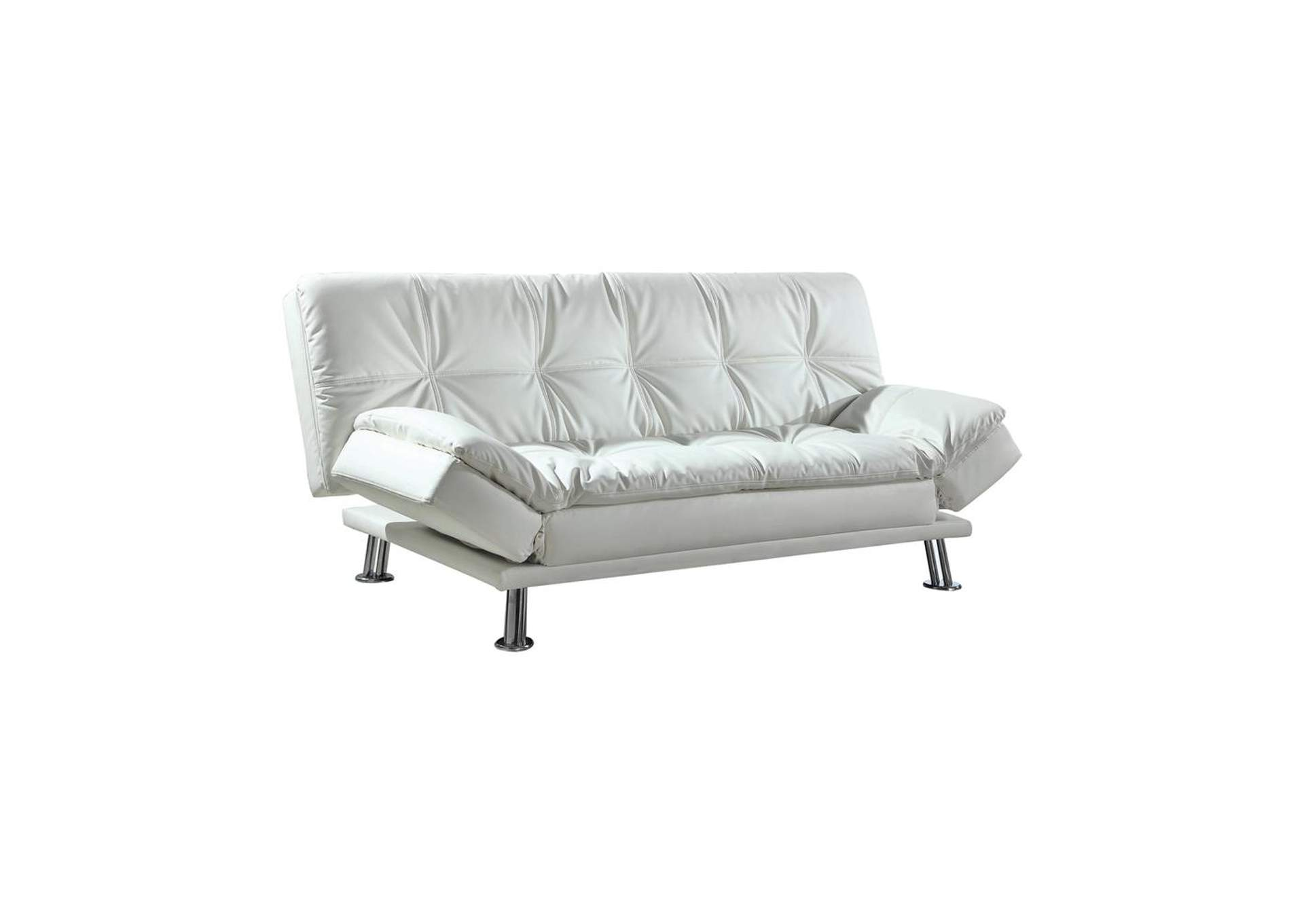 Pumice Dilleston Contemporary White Sofa Bed,Coaster Furniture