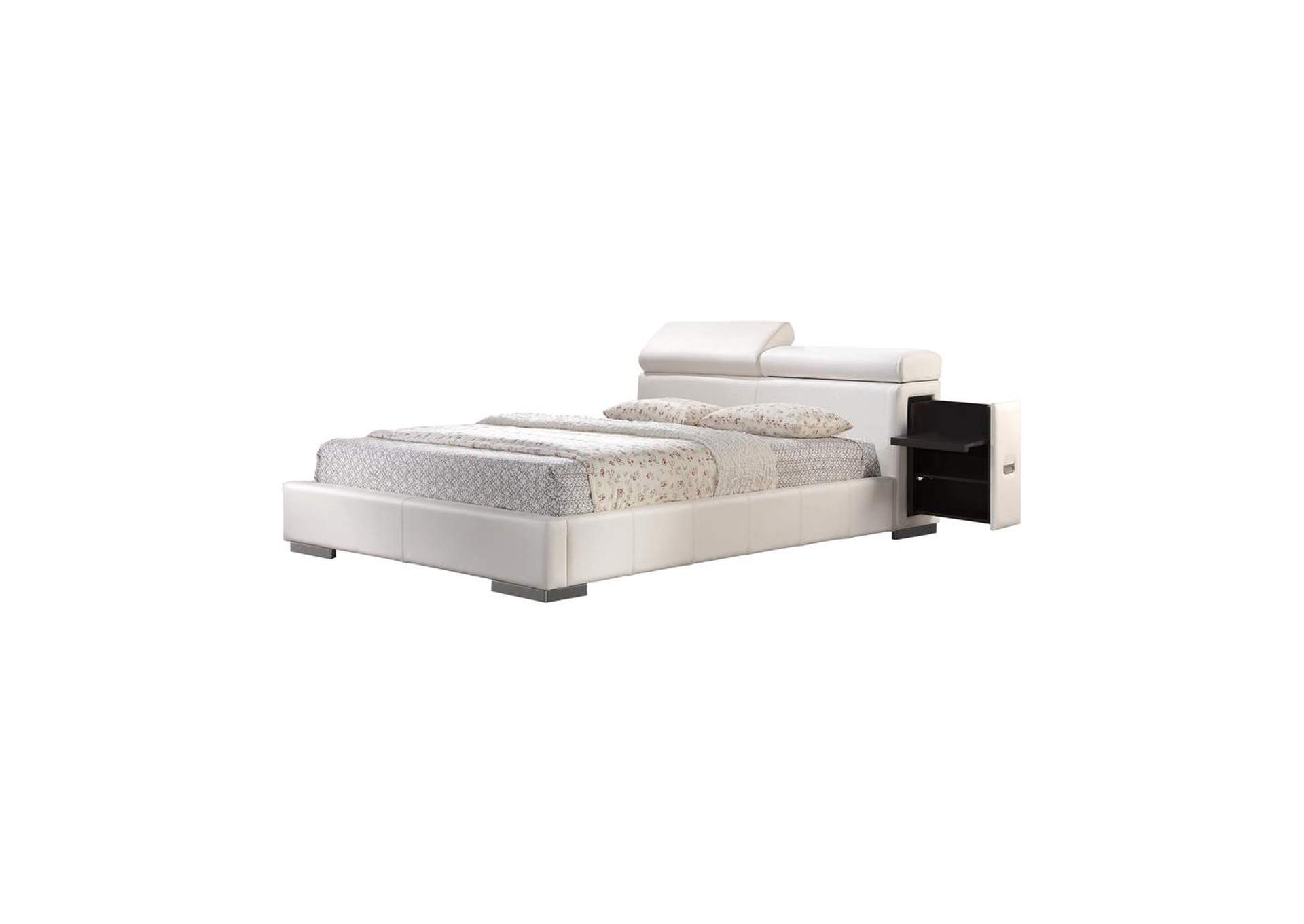 Swiss Coffee Maxine Upholstered Queen Bed White,Coaster Furniture