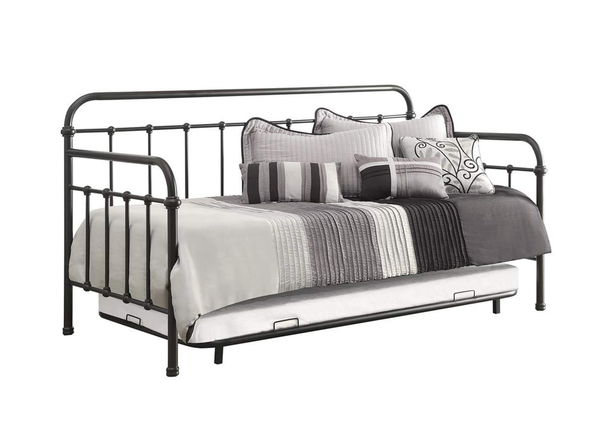 Mist Gray Dark Bronze Metal Daybed,Coaster Furniture