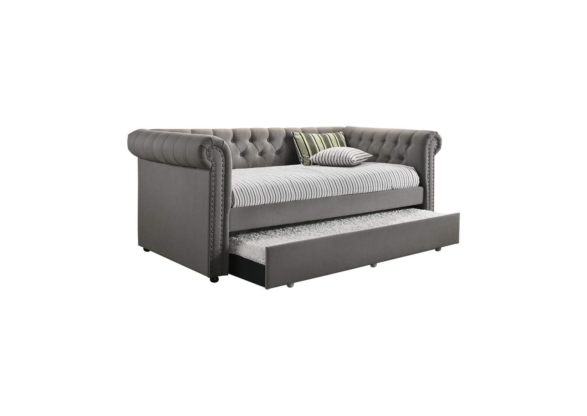 Ironside Gray Kepner Grey Chesterfield Daybed,Coaster Furniture