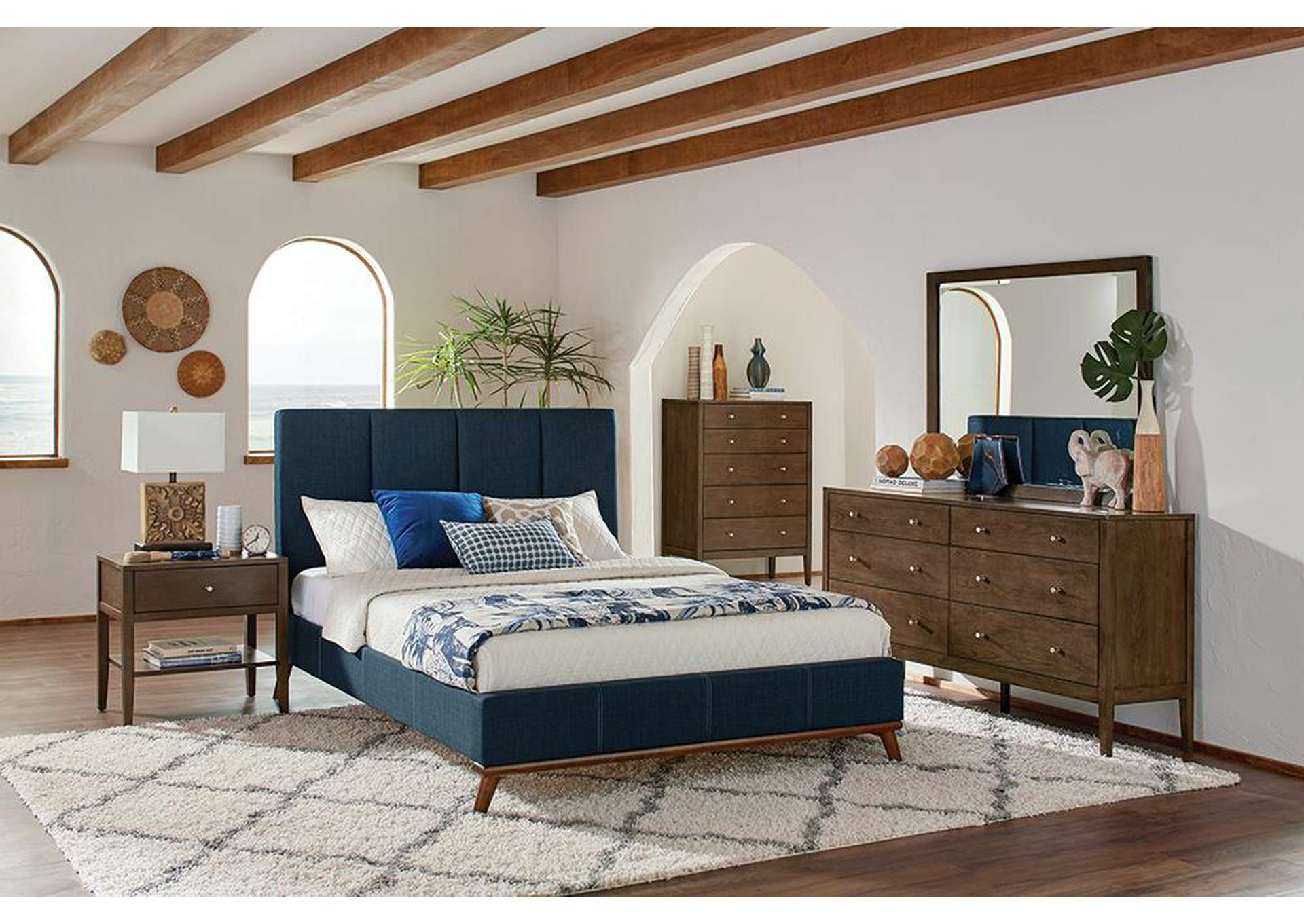 Gray Nickel 4 Piece California King Bedroom Set Best Buy Furniture And Mattress