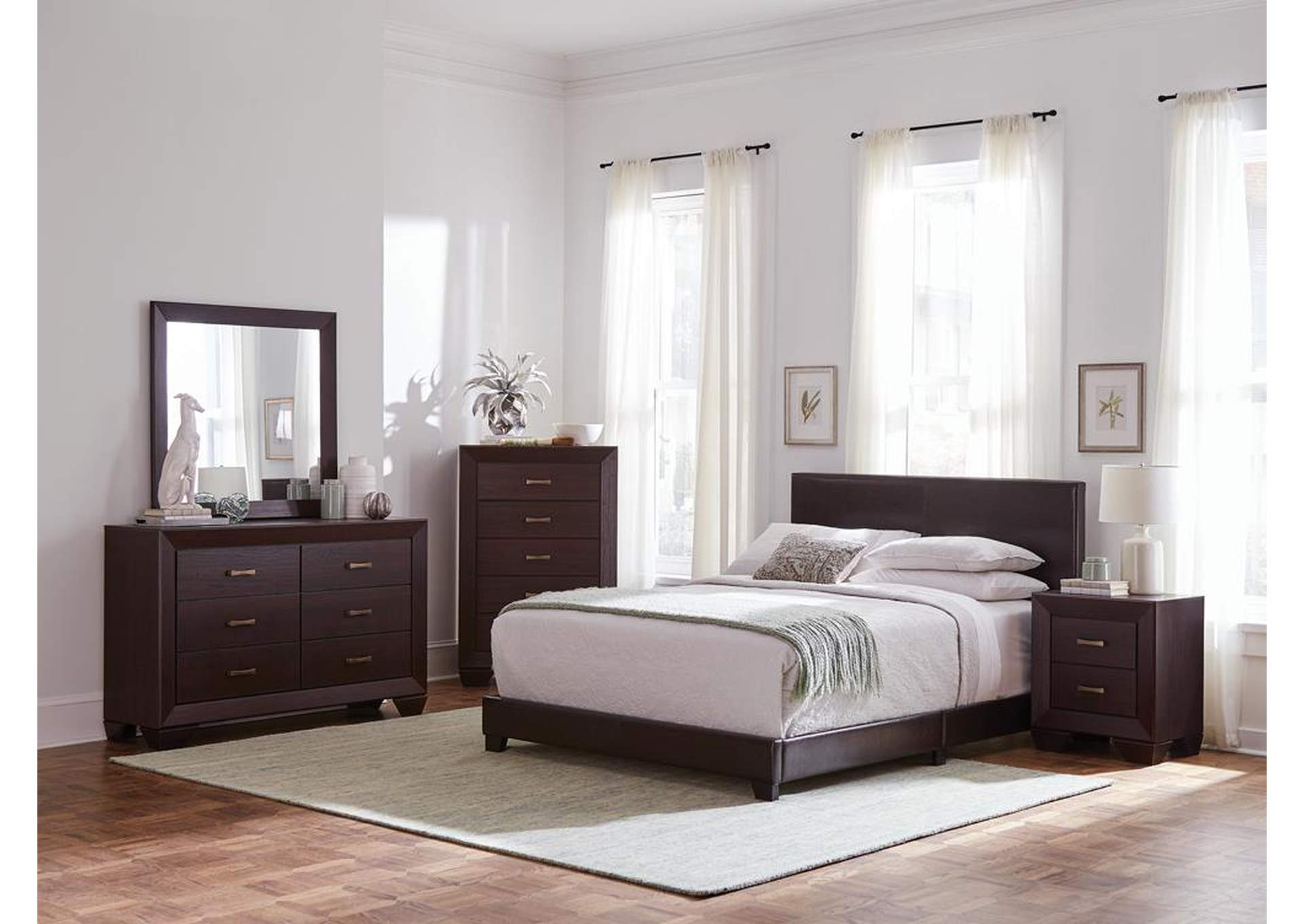 Pink Swan 5 Piece California King Bedroom Set Sam S Furniture And Mattress