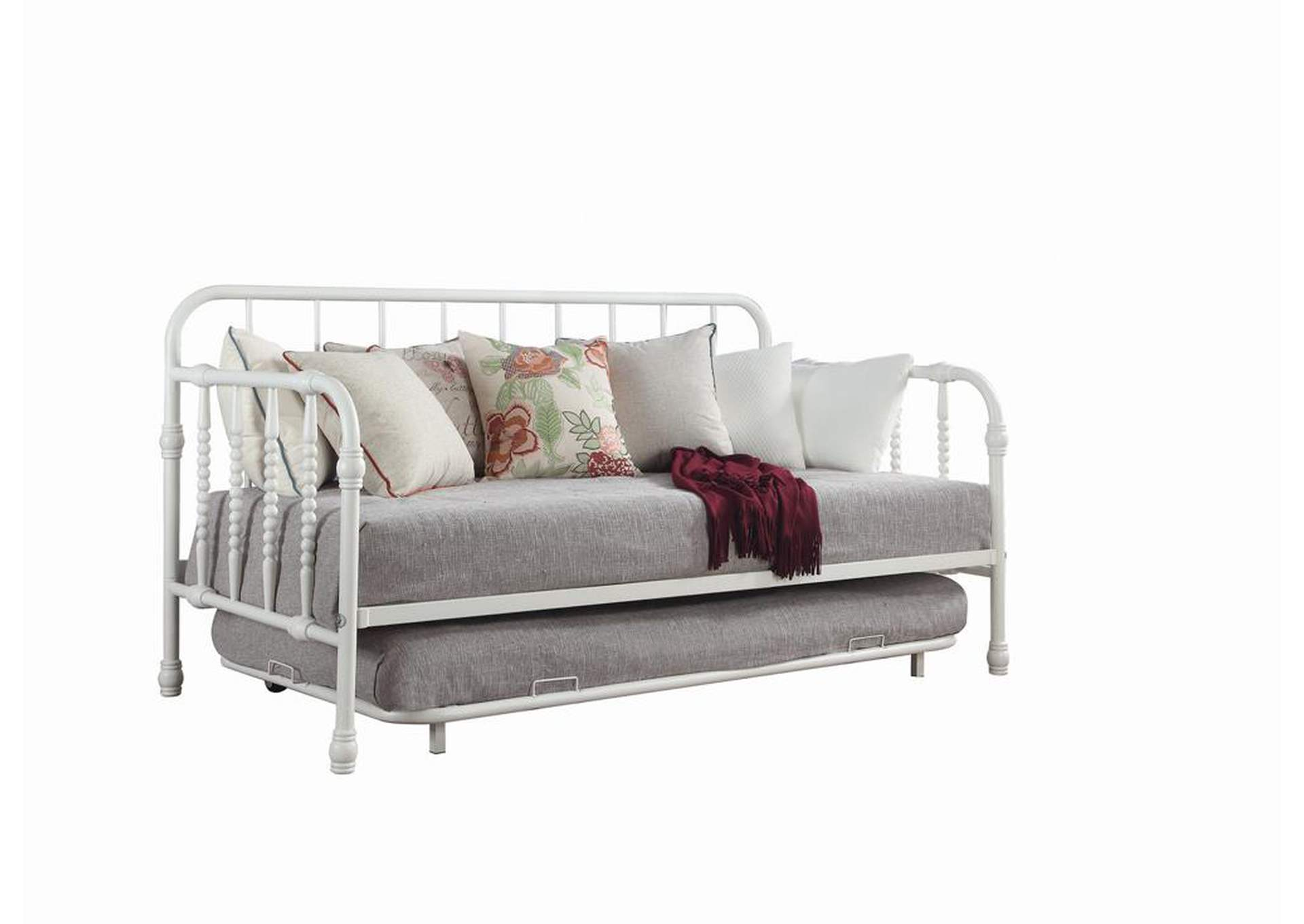 Mist Gray Traditional White Metal Daybed,Coaster Furniture