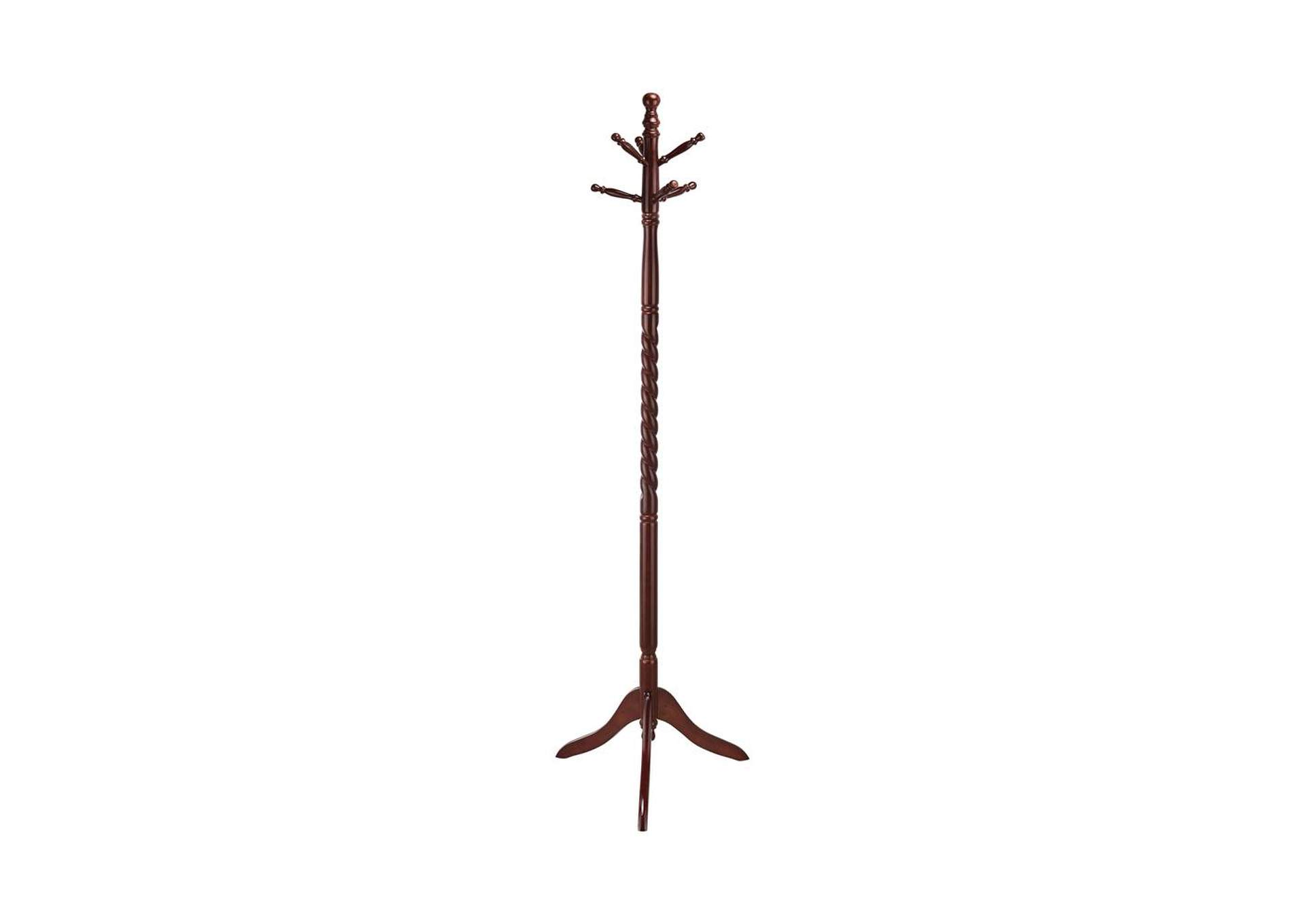 Silver Traditional Merlot Twisted Post Coat Rack,Coaster Furniture