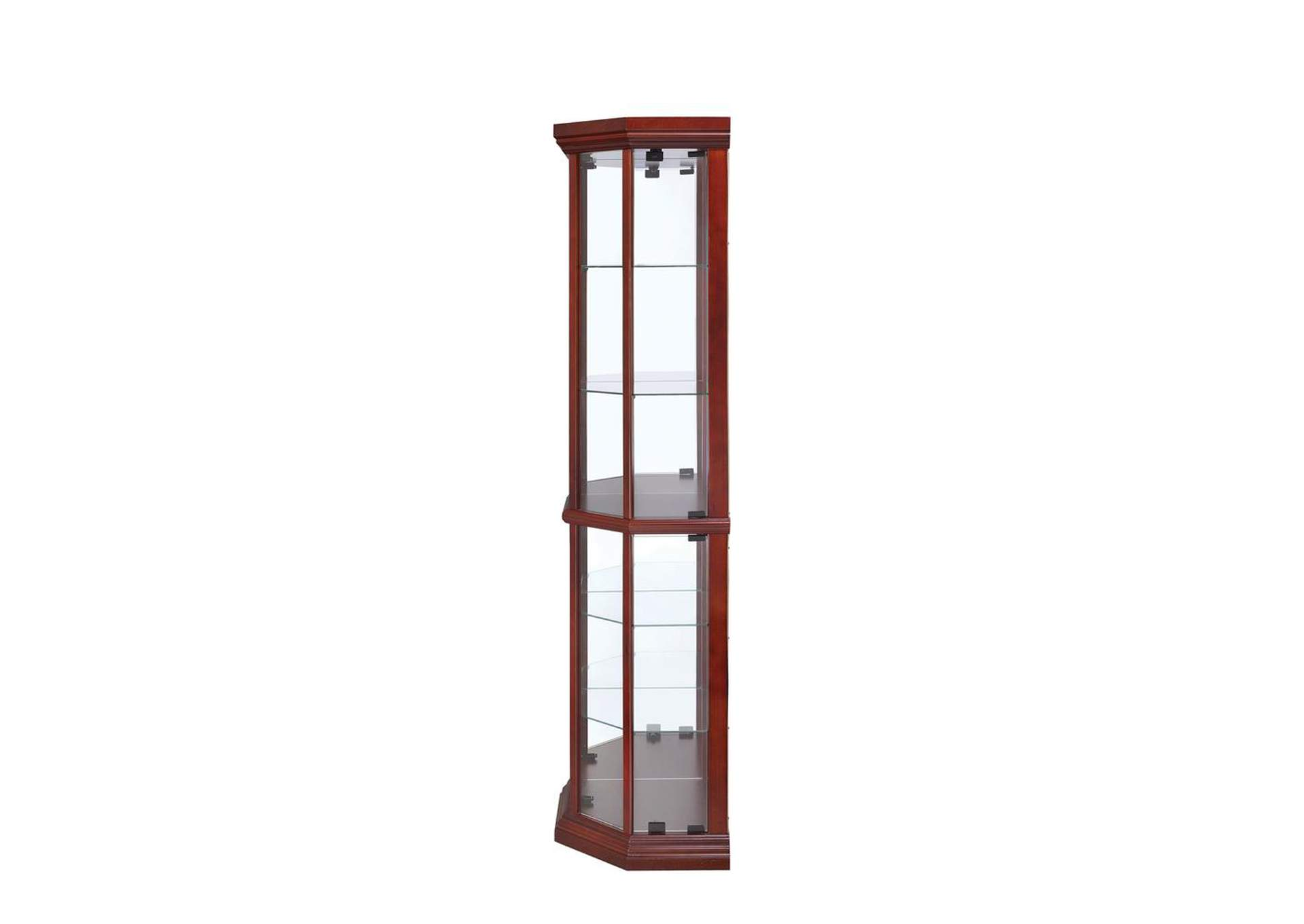 Aqua Haze Traditional Medium Brown Curio Cabinet,Coaster Furniture