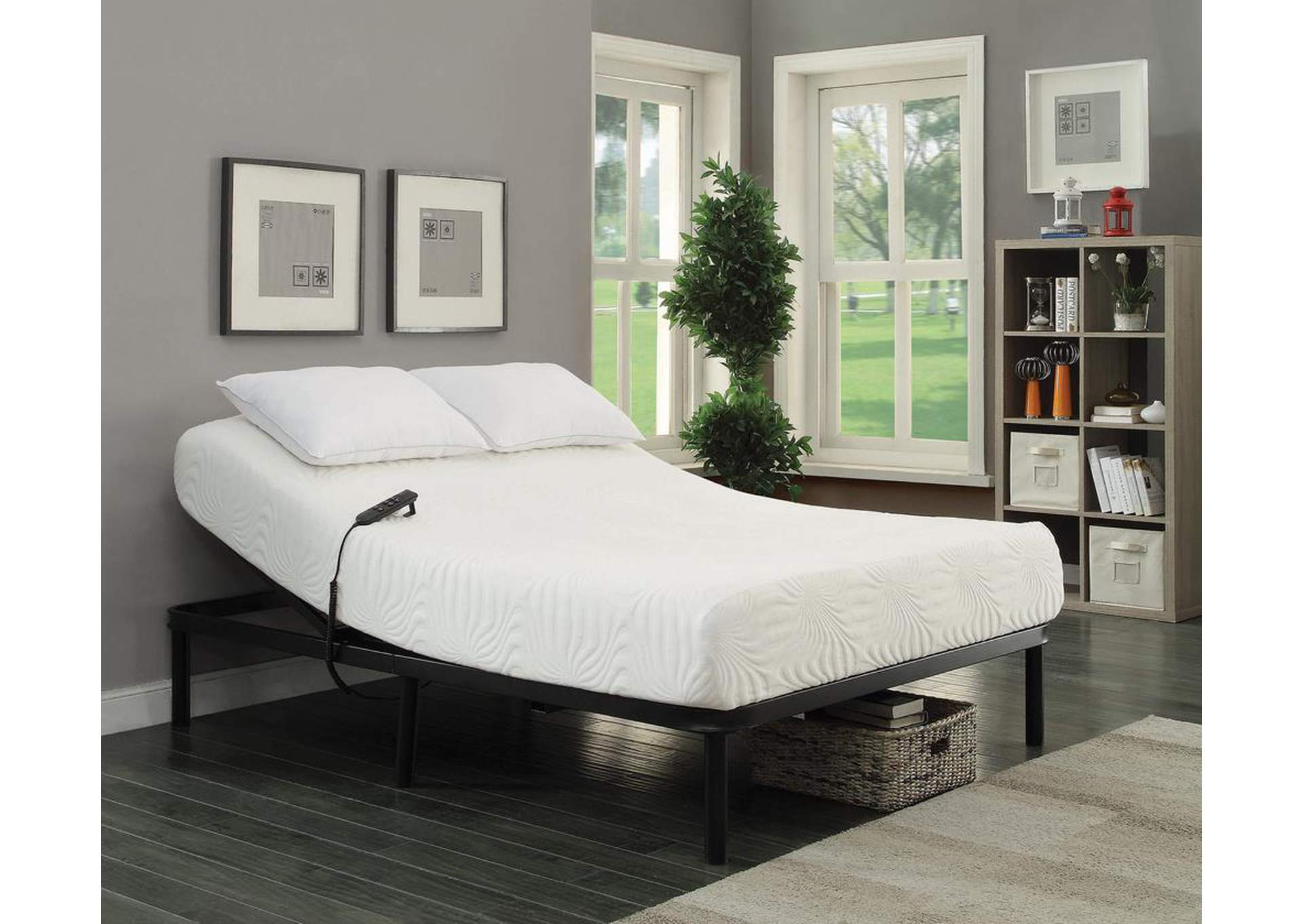 Stanhope Black Adjustable King Bed,Coaster Furniture