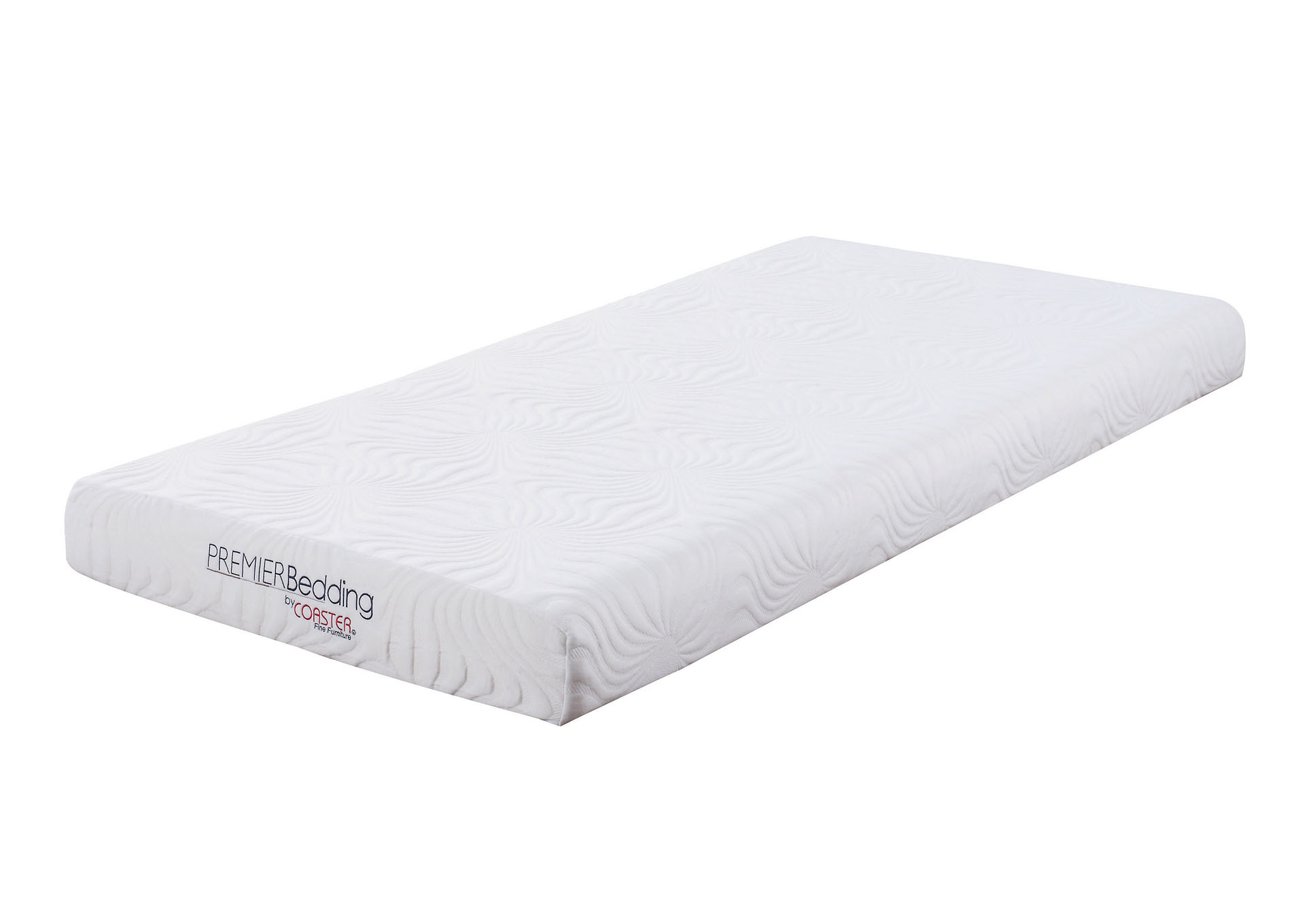 Athens Gray Joseph White 6-Inch Twin Memory Foam Mattress,Coaster Furniture