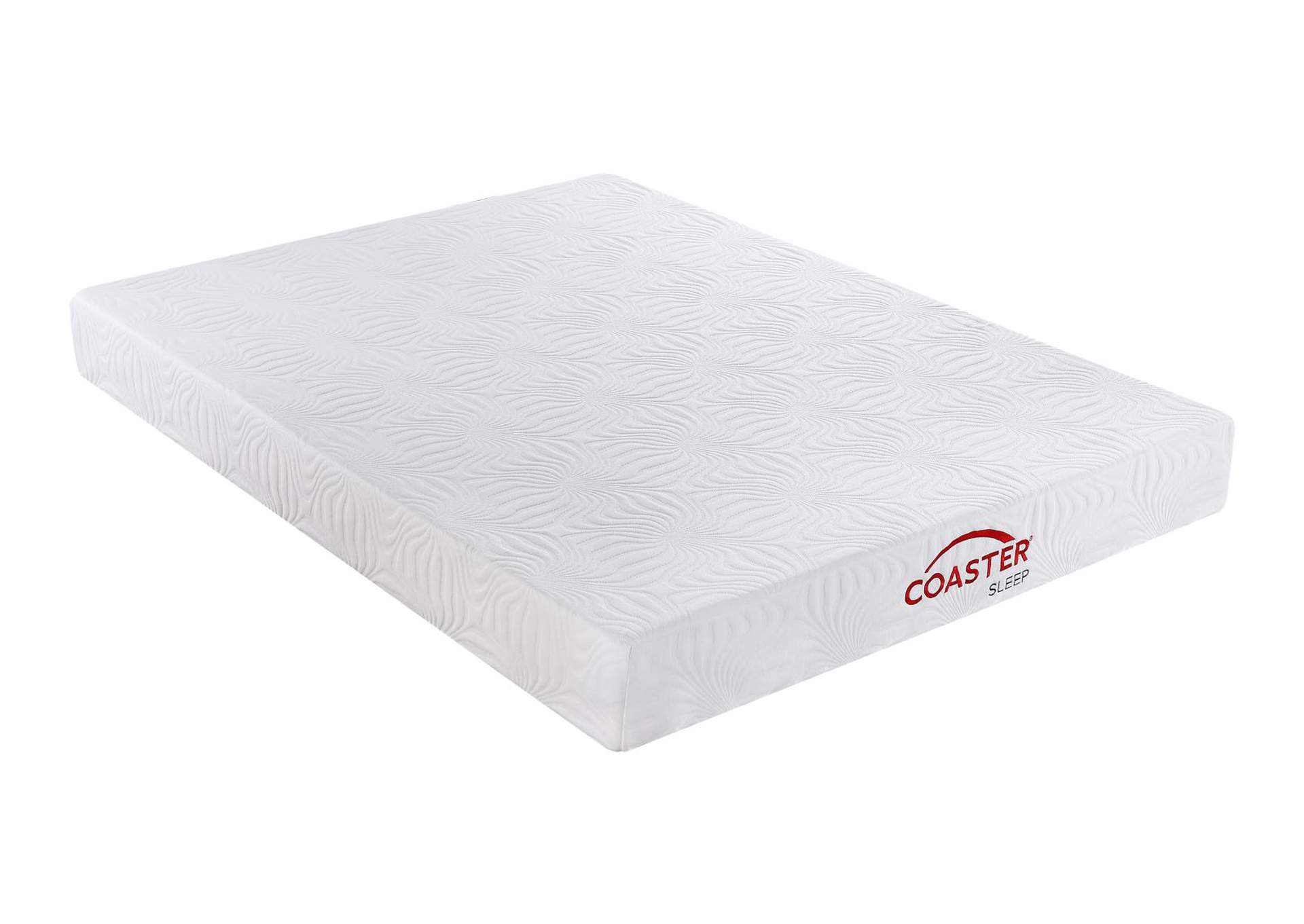 Mercury Keegan White 8-Inch Queen Memory Foam Mattress,Coaster Furniture