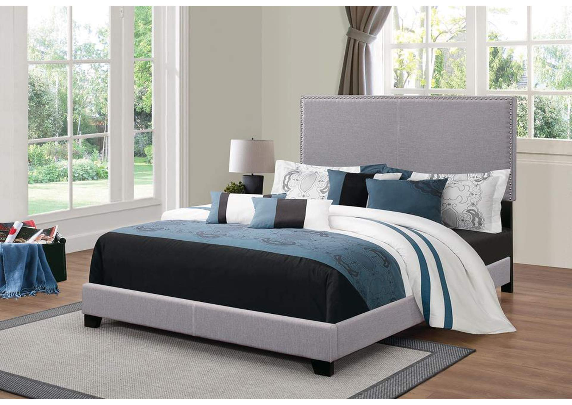 Venus Boyd Upholstered Grey Queen Bed,Coaster Furniture