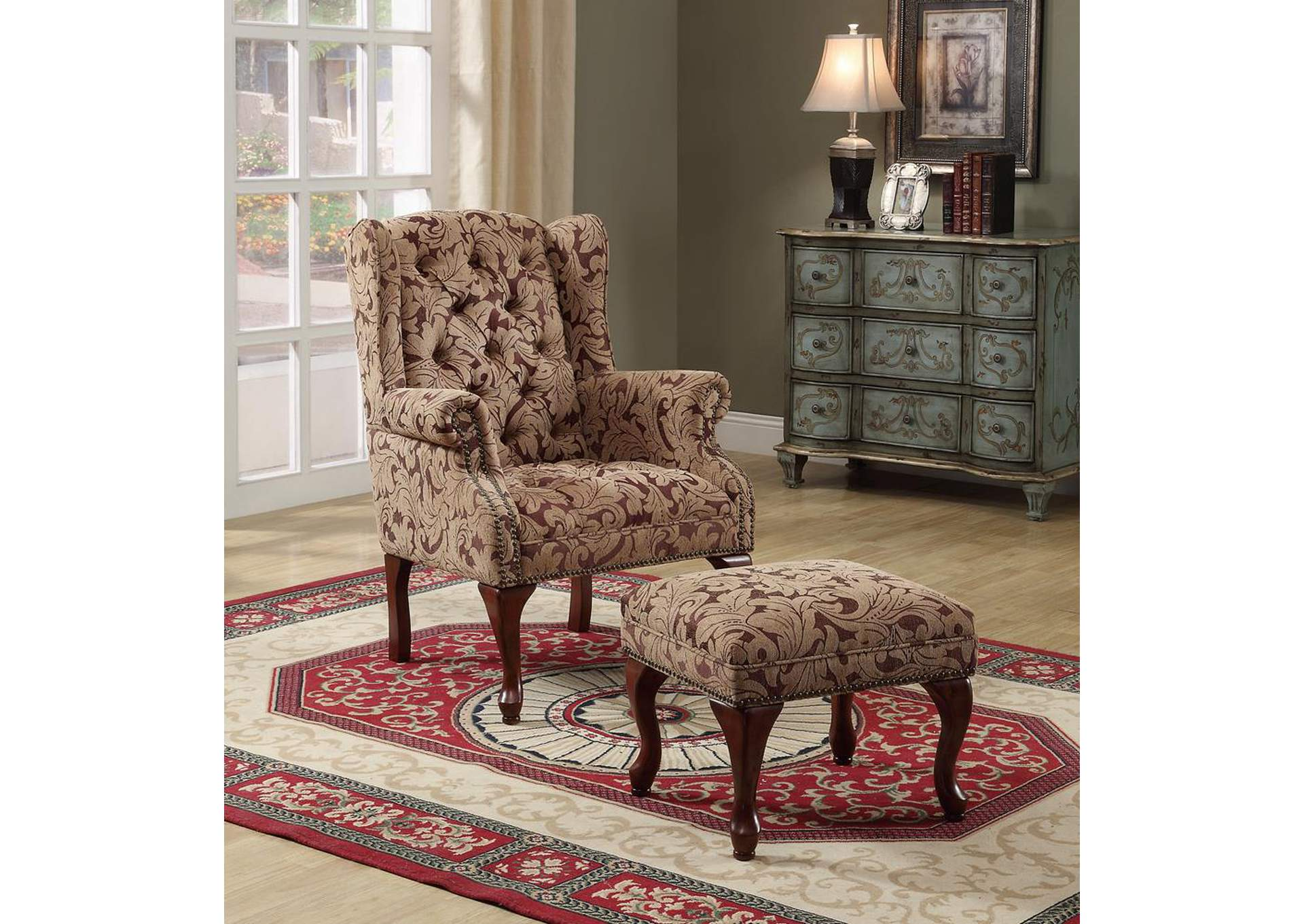 Warm Brown Queen Anne Light Brown Accent Chair,Coaster Furniture