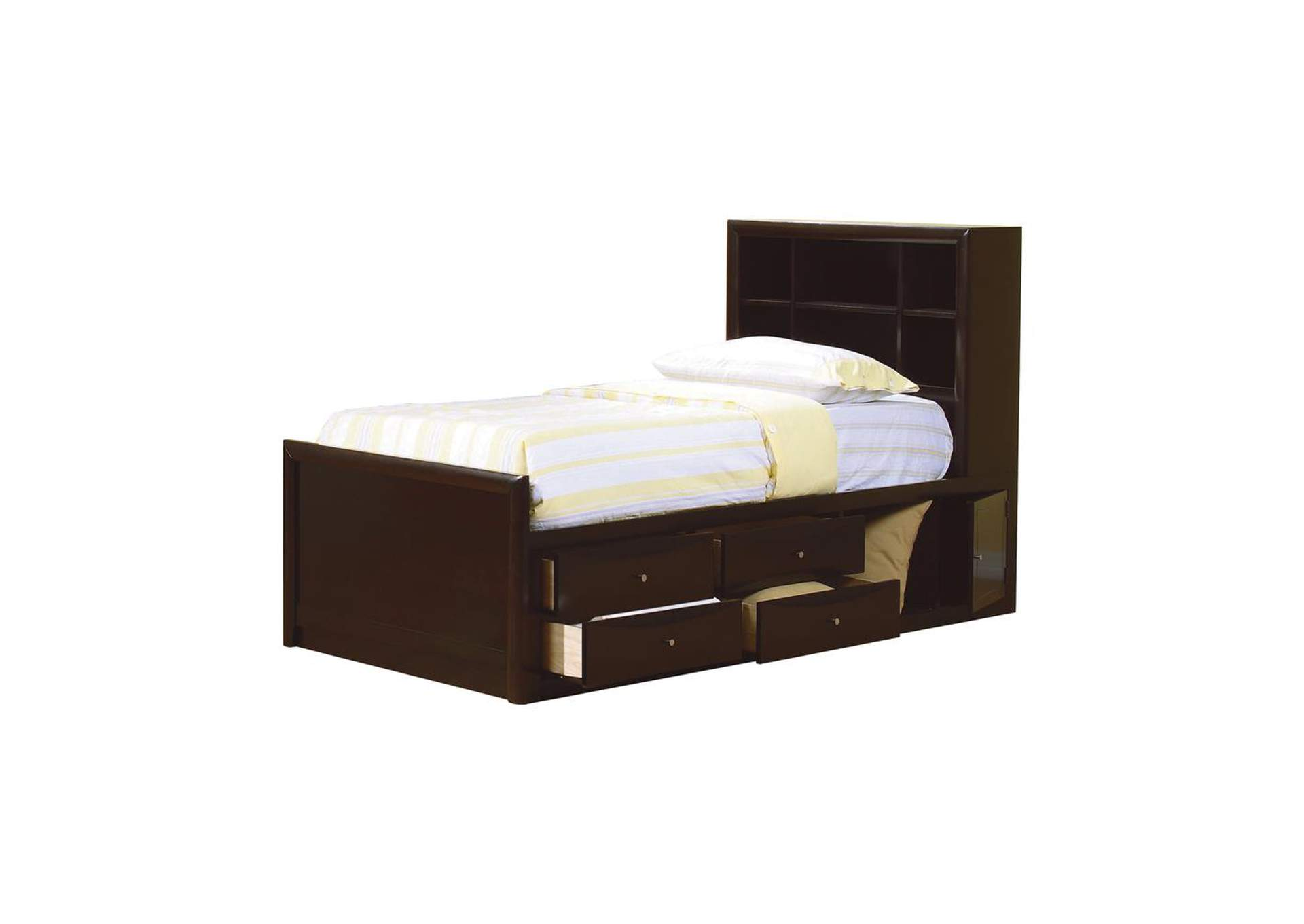 Cappuccino Phoenix Twin Bookcase Bed,Coaster Furniture