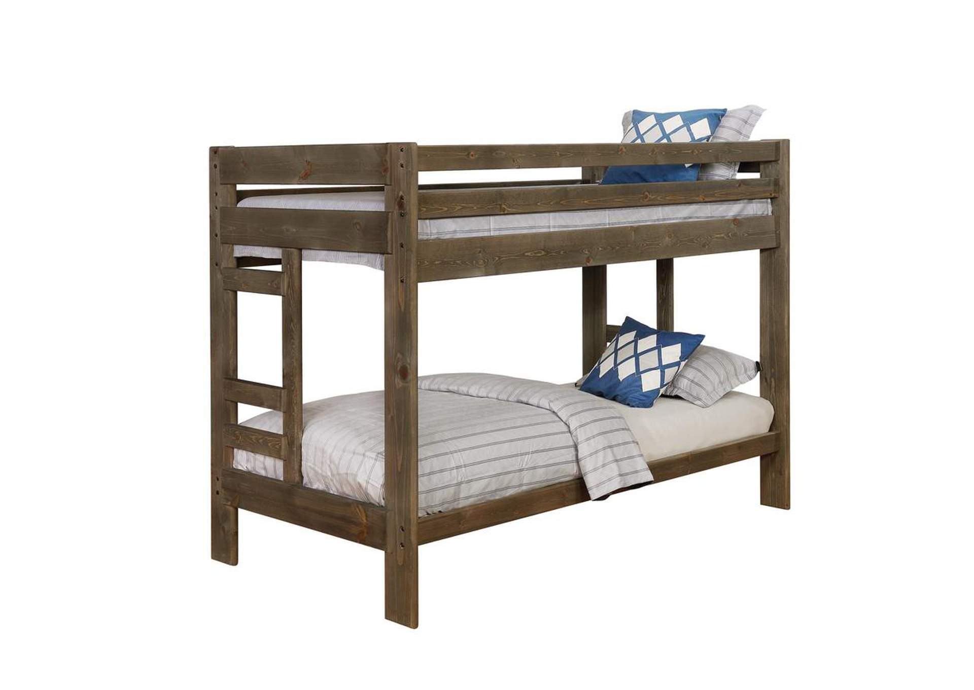 Judge Gray Wrangle Hill Gun Smoke Twin/Twin Bunk Bed,Coaster Furniture