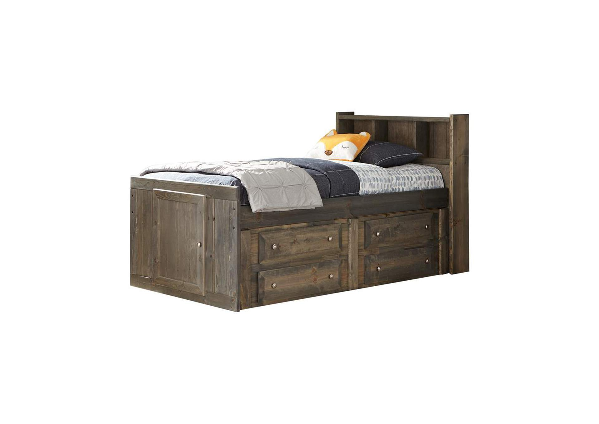 Tobacco Brown Twin Captain's Bed,Coaster Furniture