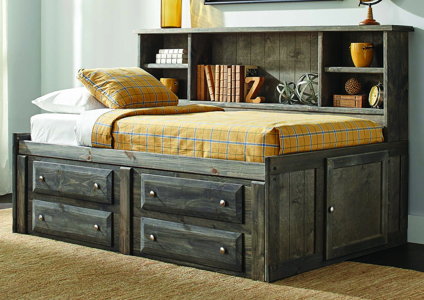Rustic Gunsmoke Trundle,Coaster Furniture