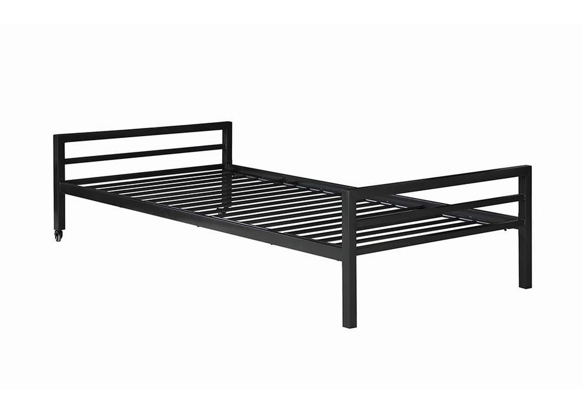 Eerie Black Twin Bed,Coaster Furniture