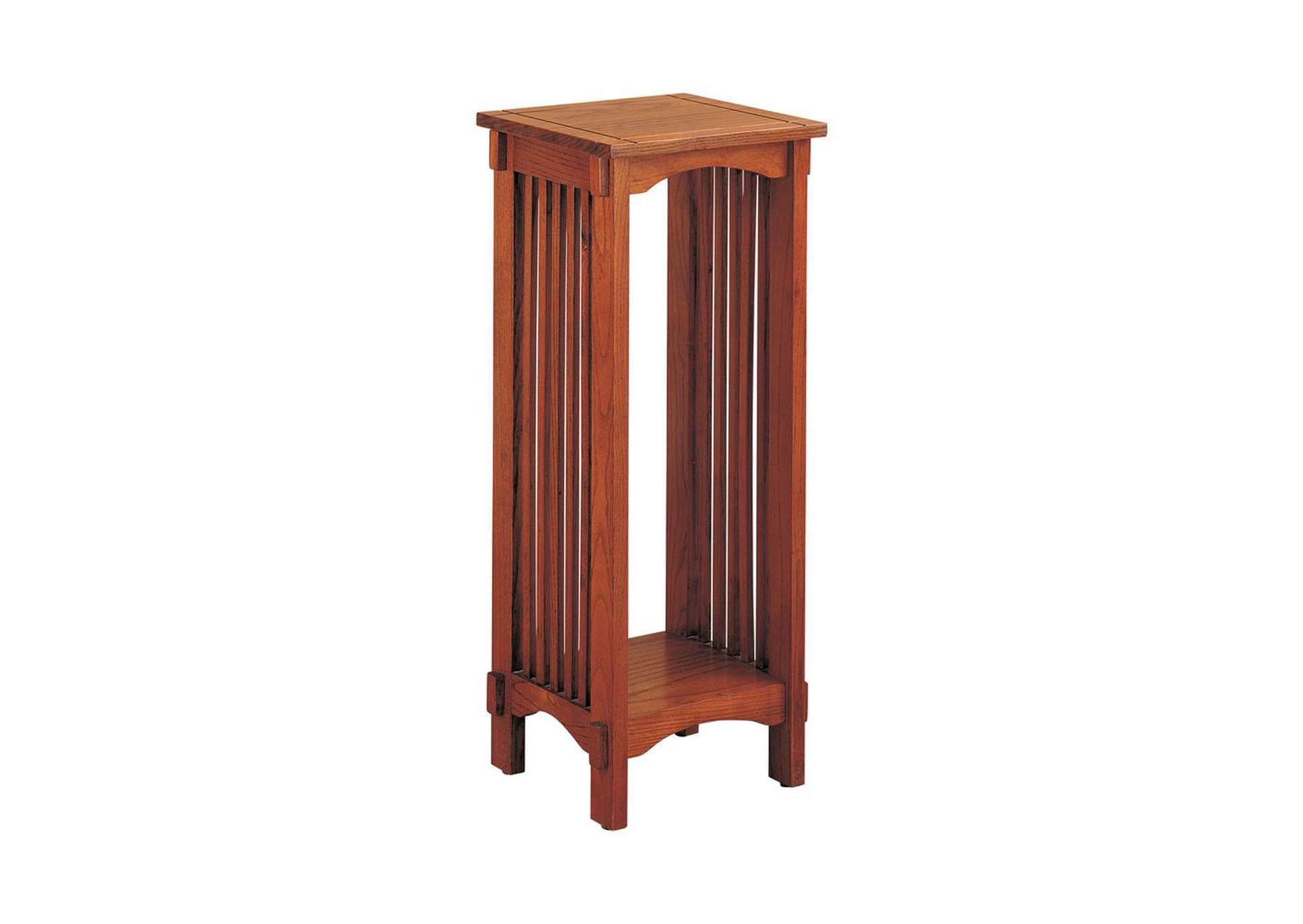 Warm Brown Mission Traditional Oak Plant Stand,Coaster Furniture