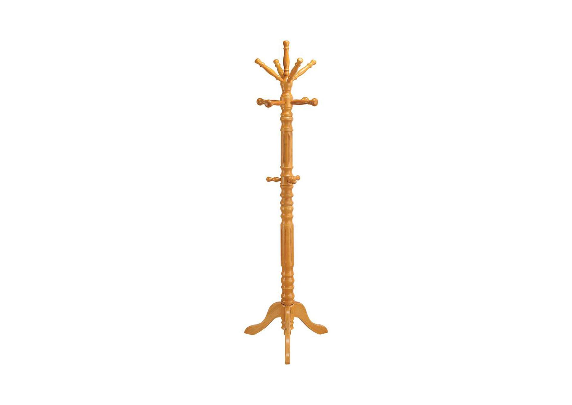Bianca Traditional Honey Twisted Post Coat Rack,Coaster Furniture