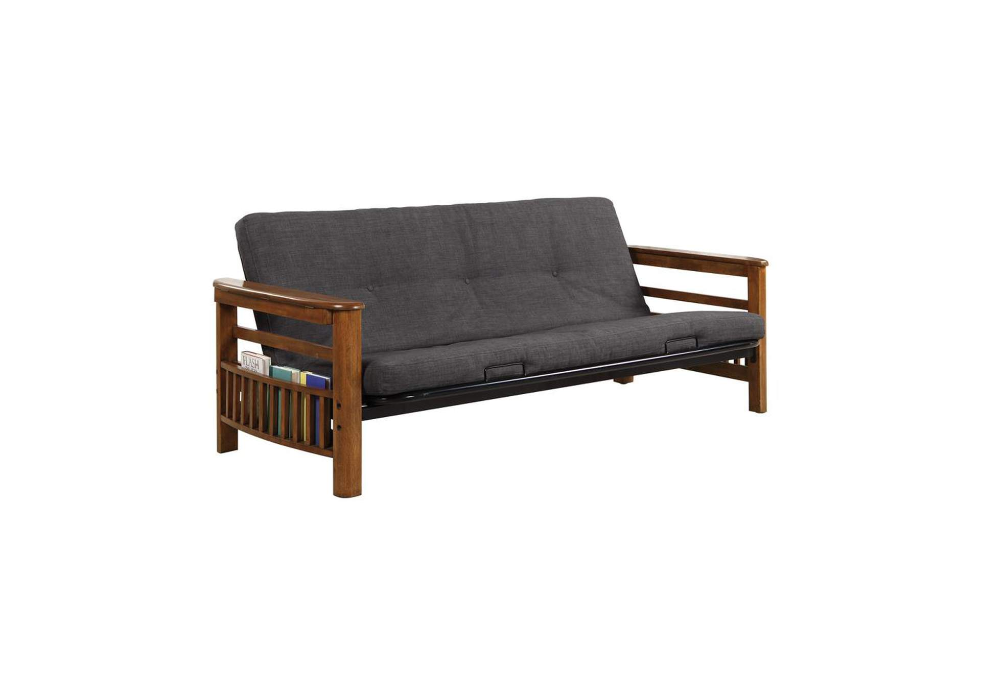 Tundora Traditional Oak Futon Frame,Coaster Furniture