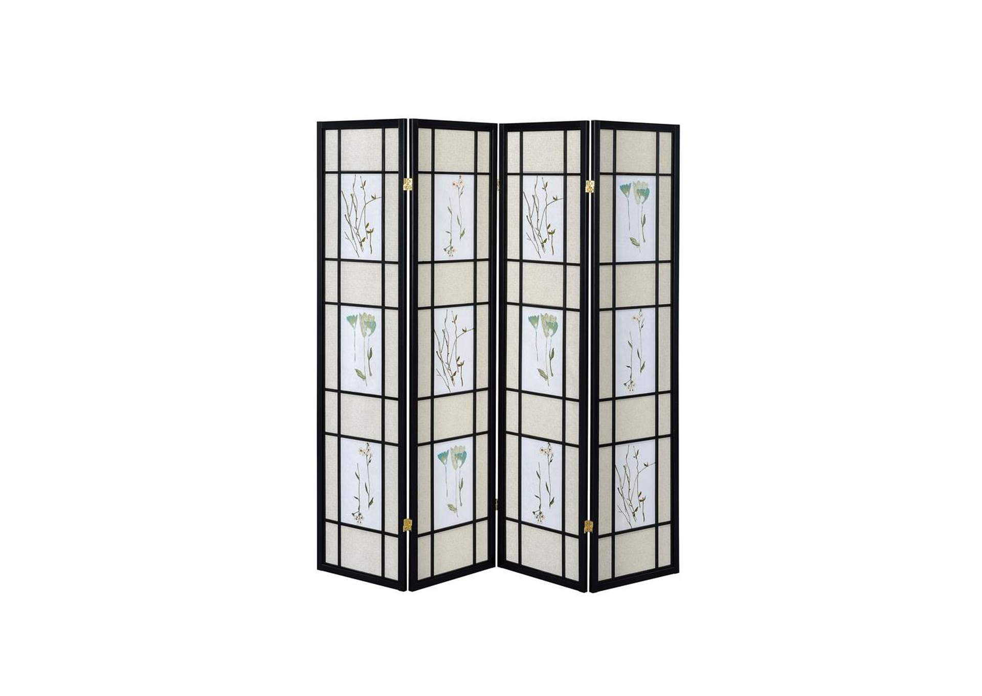 Swirl Transitional Black Folding Screen,Coaster Furniture