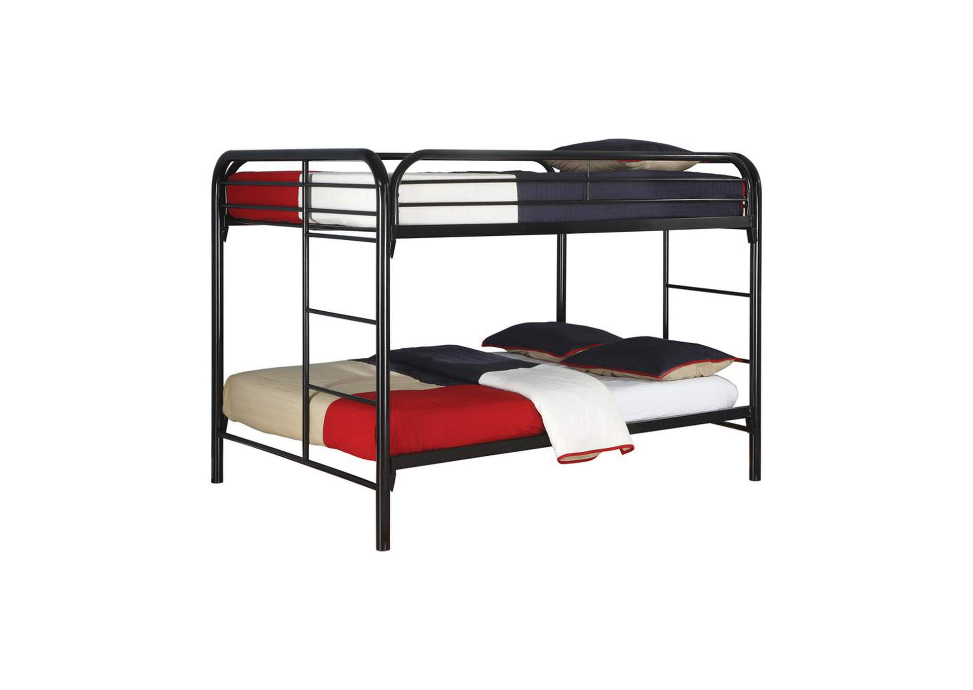 Gallery Fordham Black Full-Over-Full Bunk Bed,Coaster Furniture