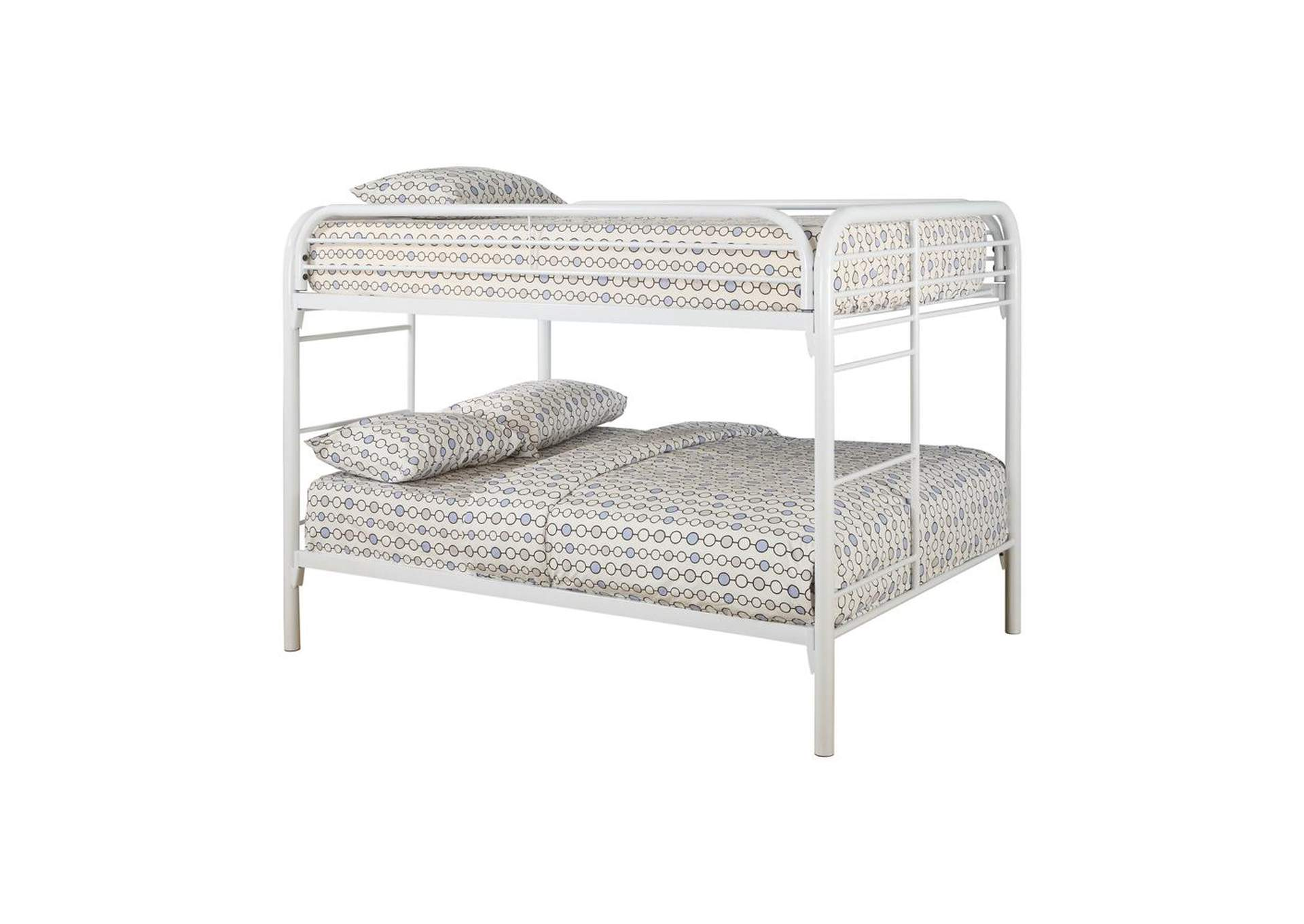 Gallery Fordham White Full-Over-Full Bunk Bed,Coaster Furniture