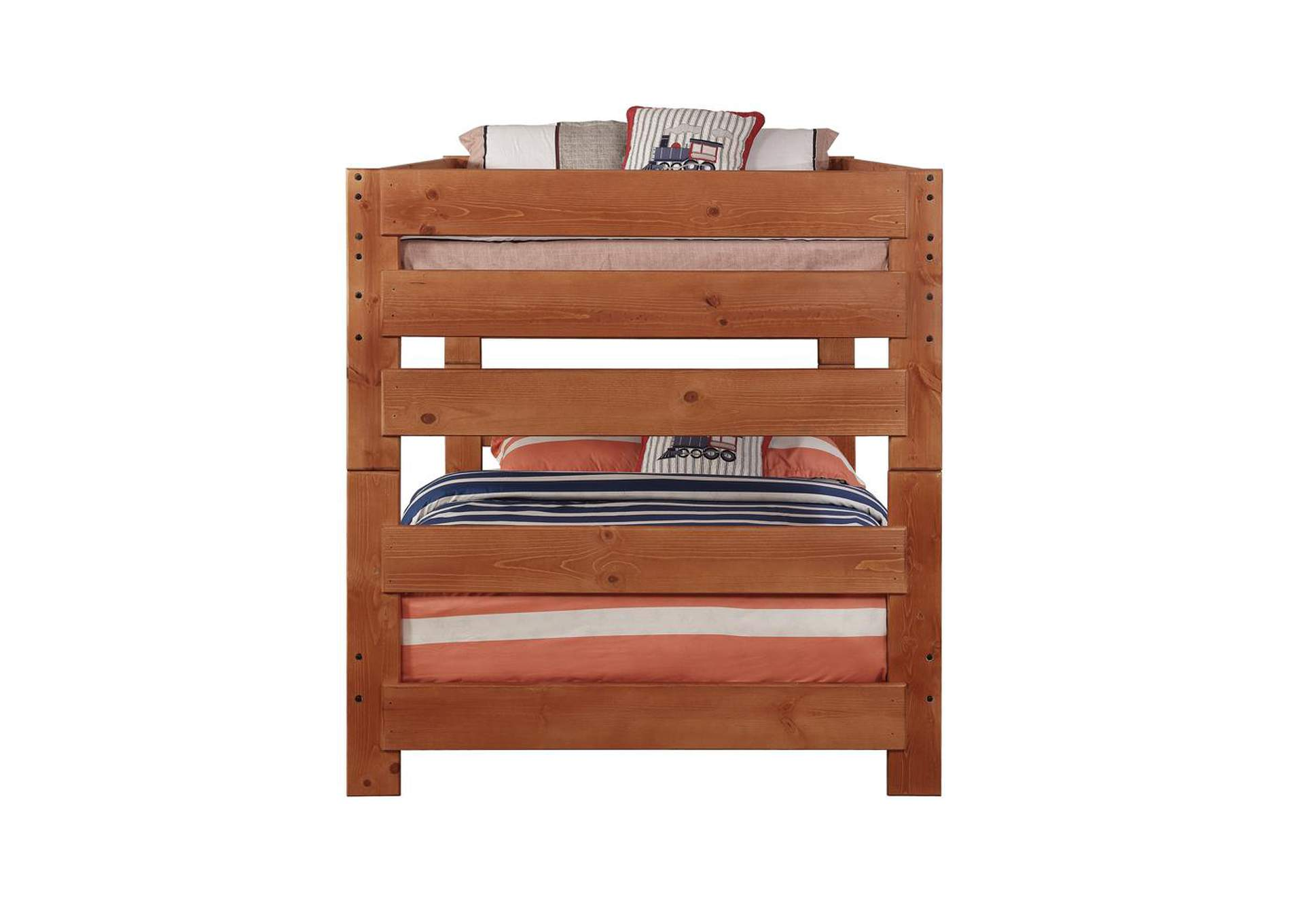 Cumin Wrangle Hill Amber Wash Full-over-Full Bunk Bed,Coaster Furniture